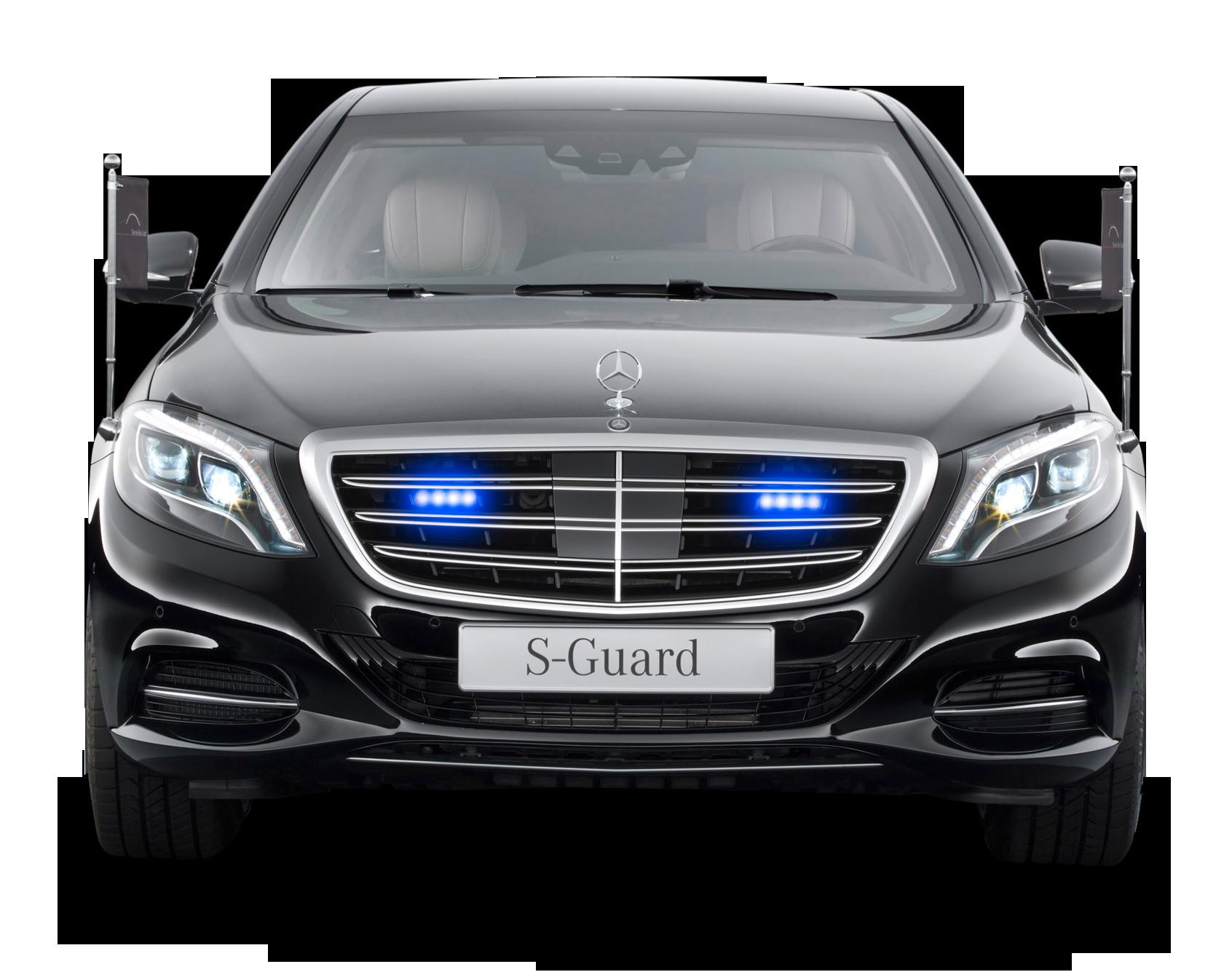 Mercedes Benz S 600 Guard President Black Car PNG Image