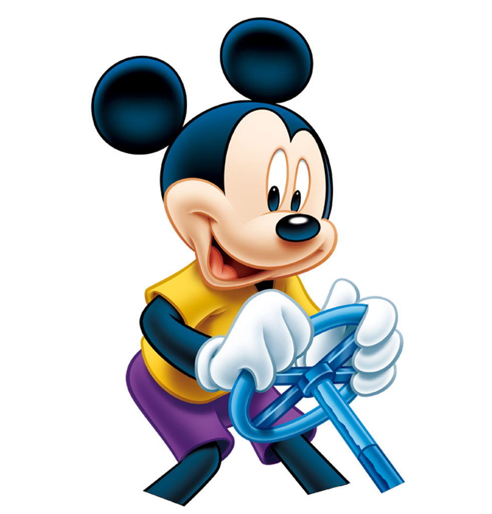 Mickey  Mouse Driving PNG Image