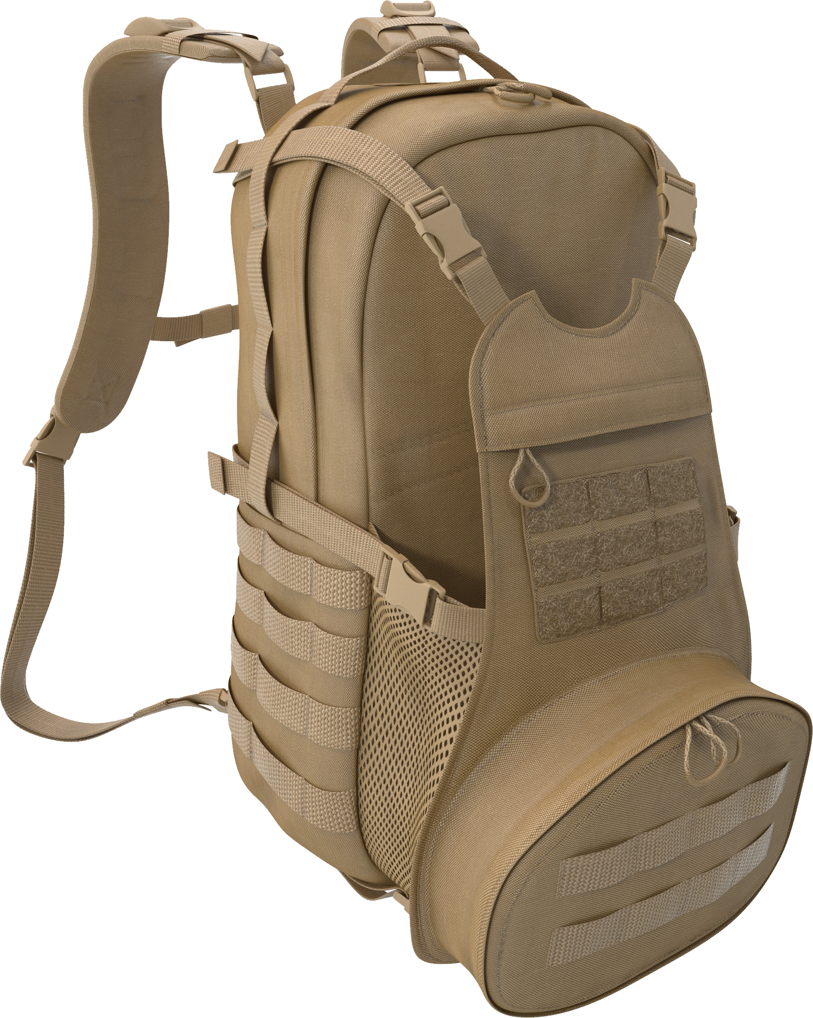 Military Bag With Extra Pockets PNG Image