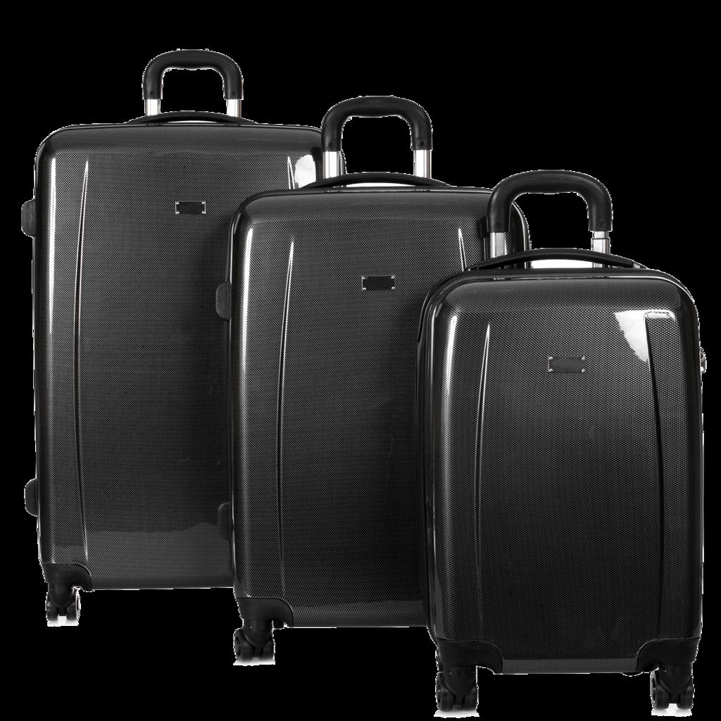 Mline 3p Carbon Black Luggage