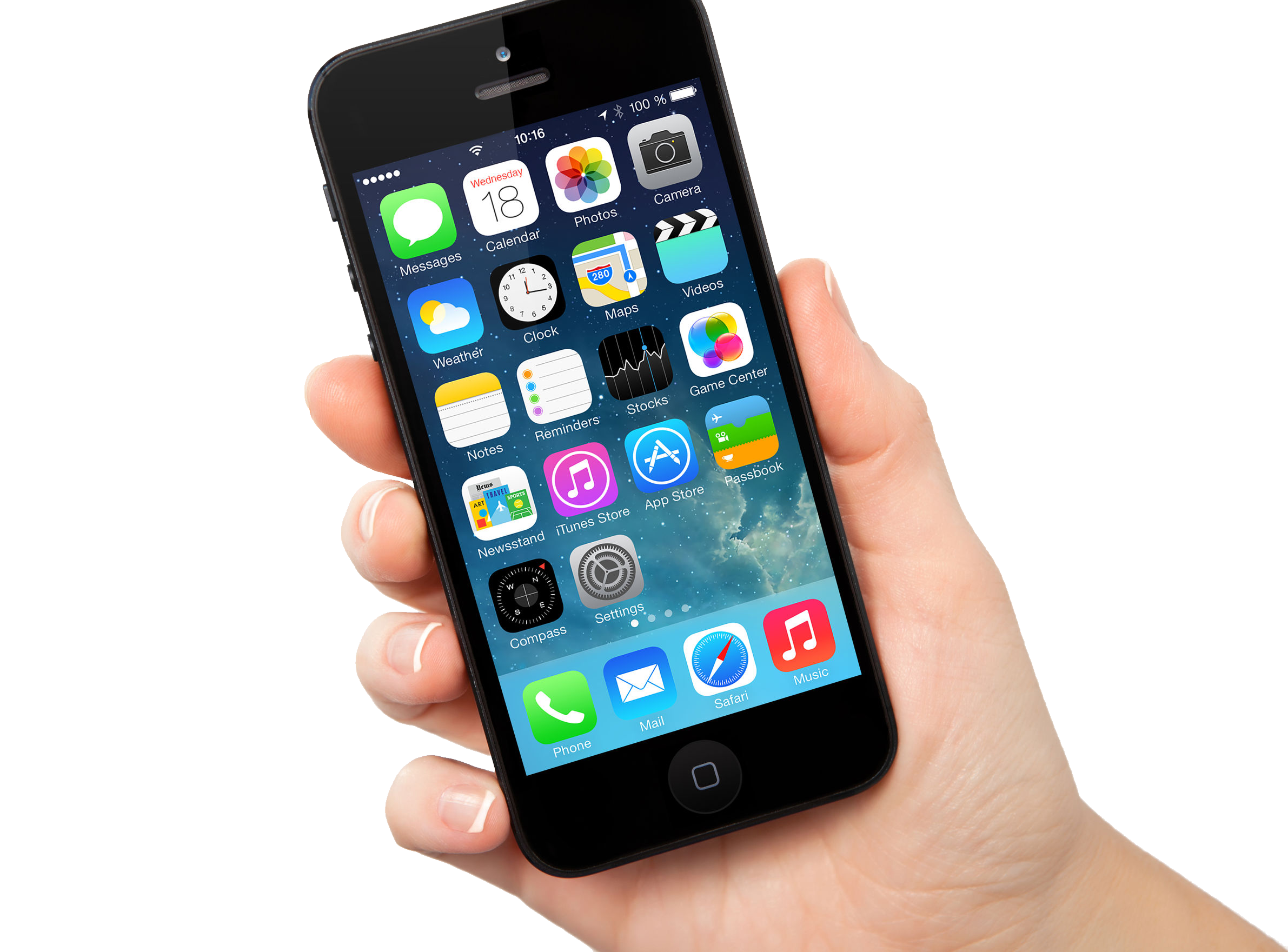 Mobile Phone With Touch PNG Image