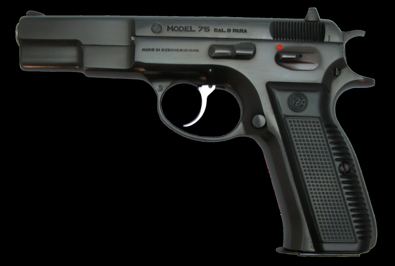 Model 75 Hand Gun PNG Image