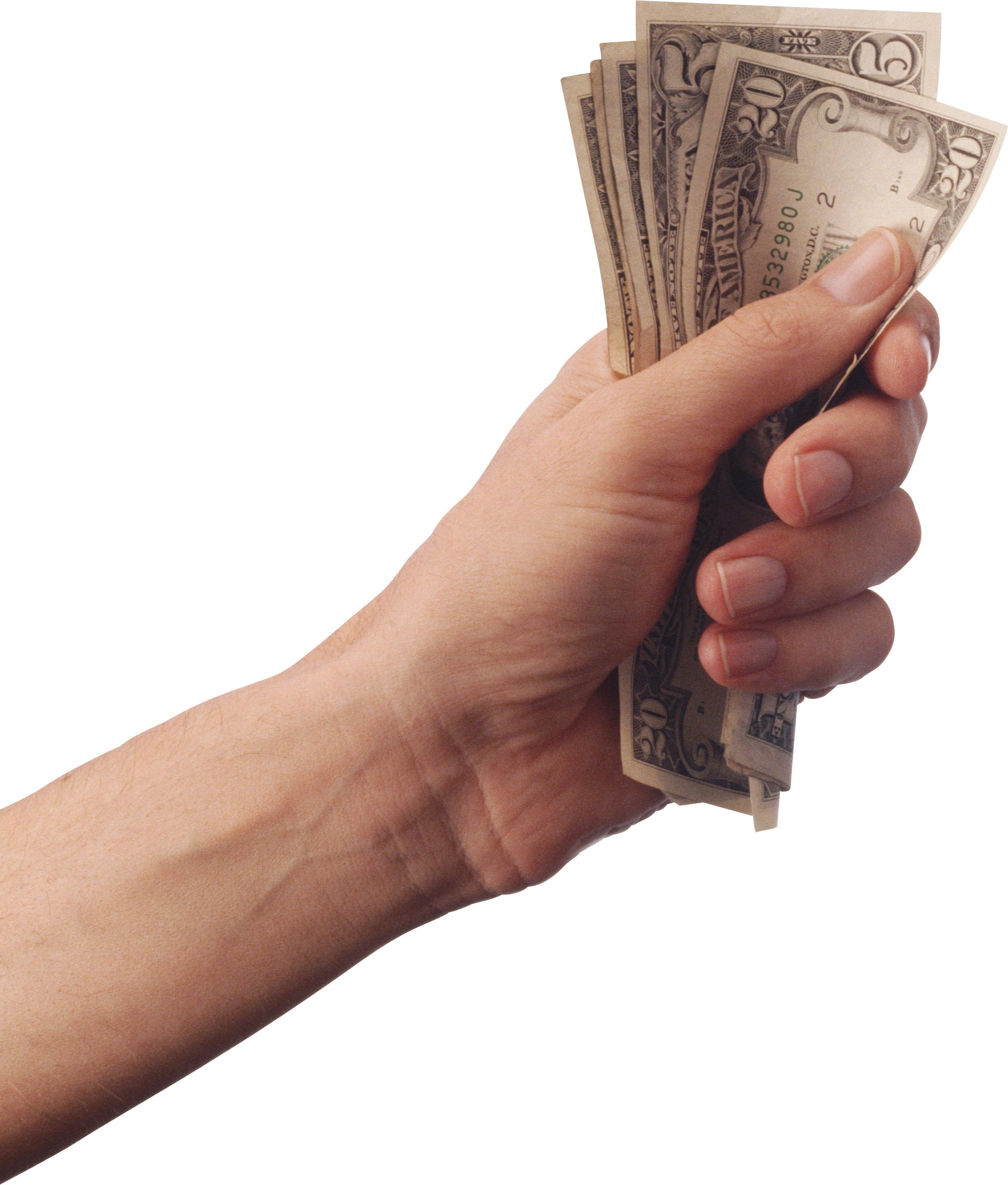 Money's  On Hand PNG Image