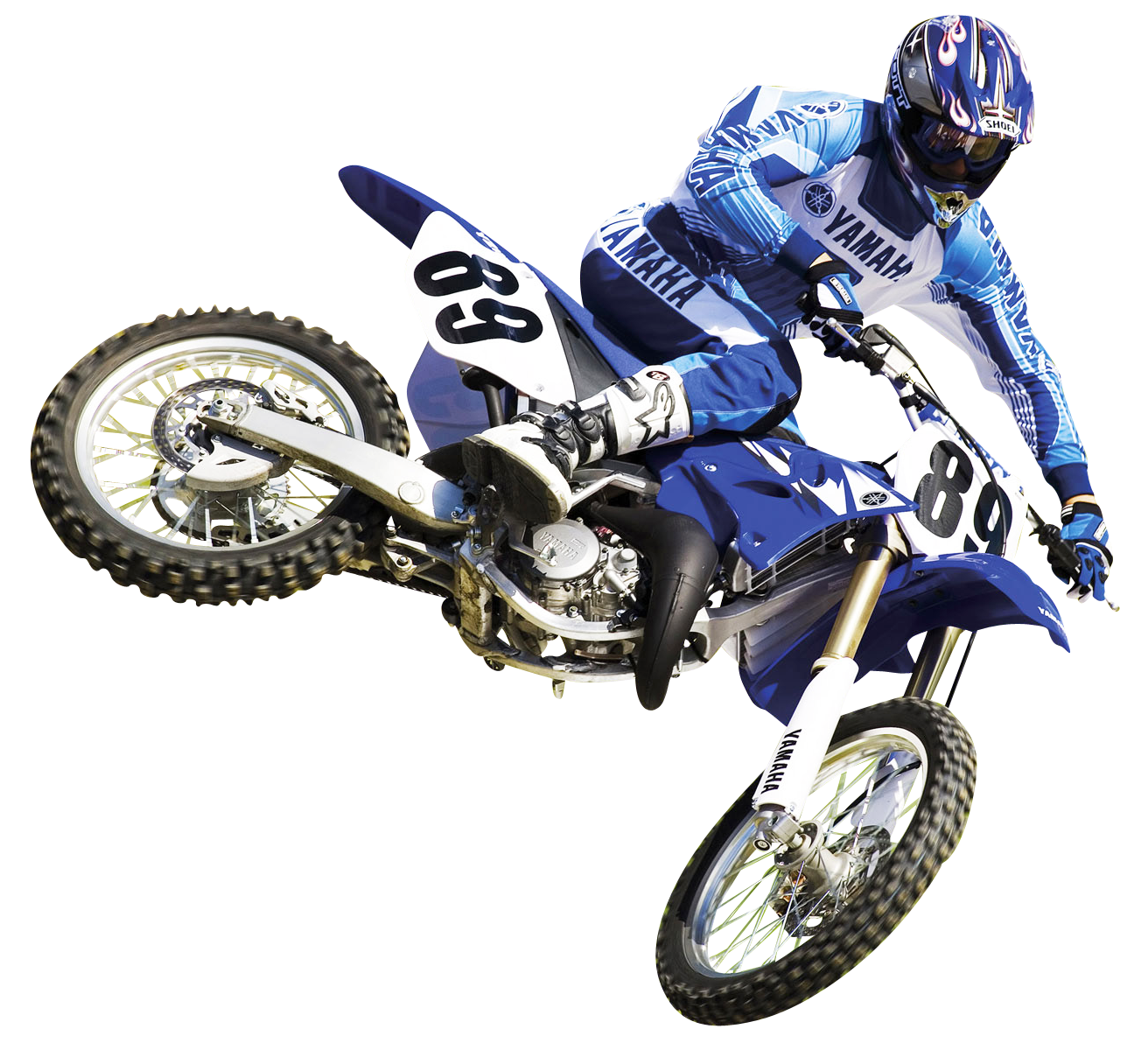 Motocross Racer PNG Image