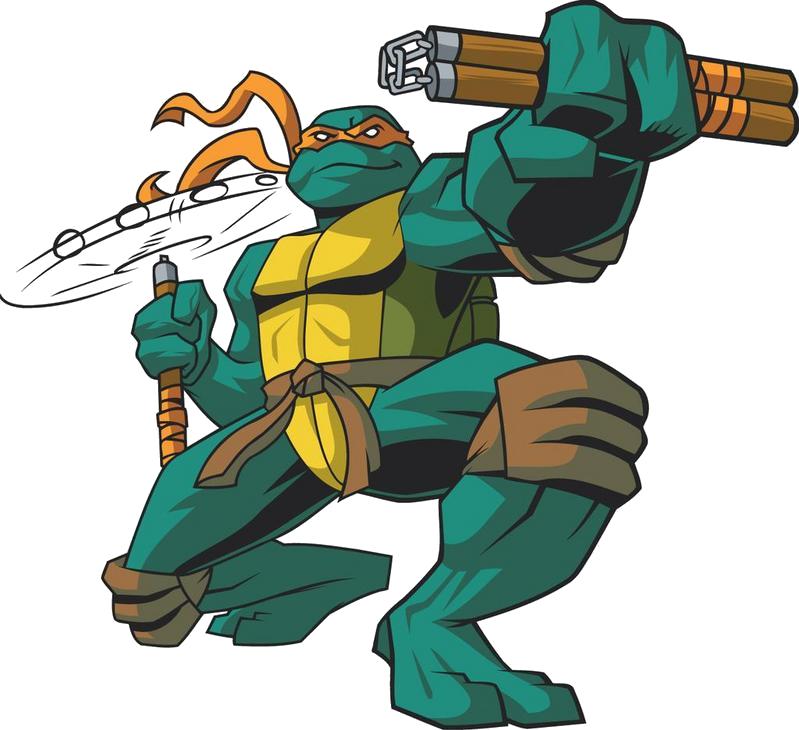 Ninja Tutle Michelangelo- PNG Image