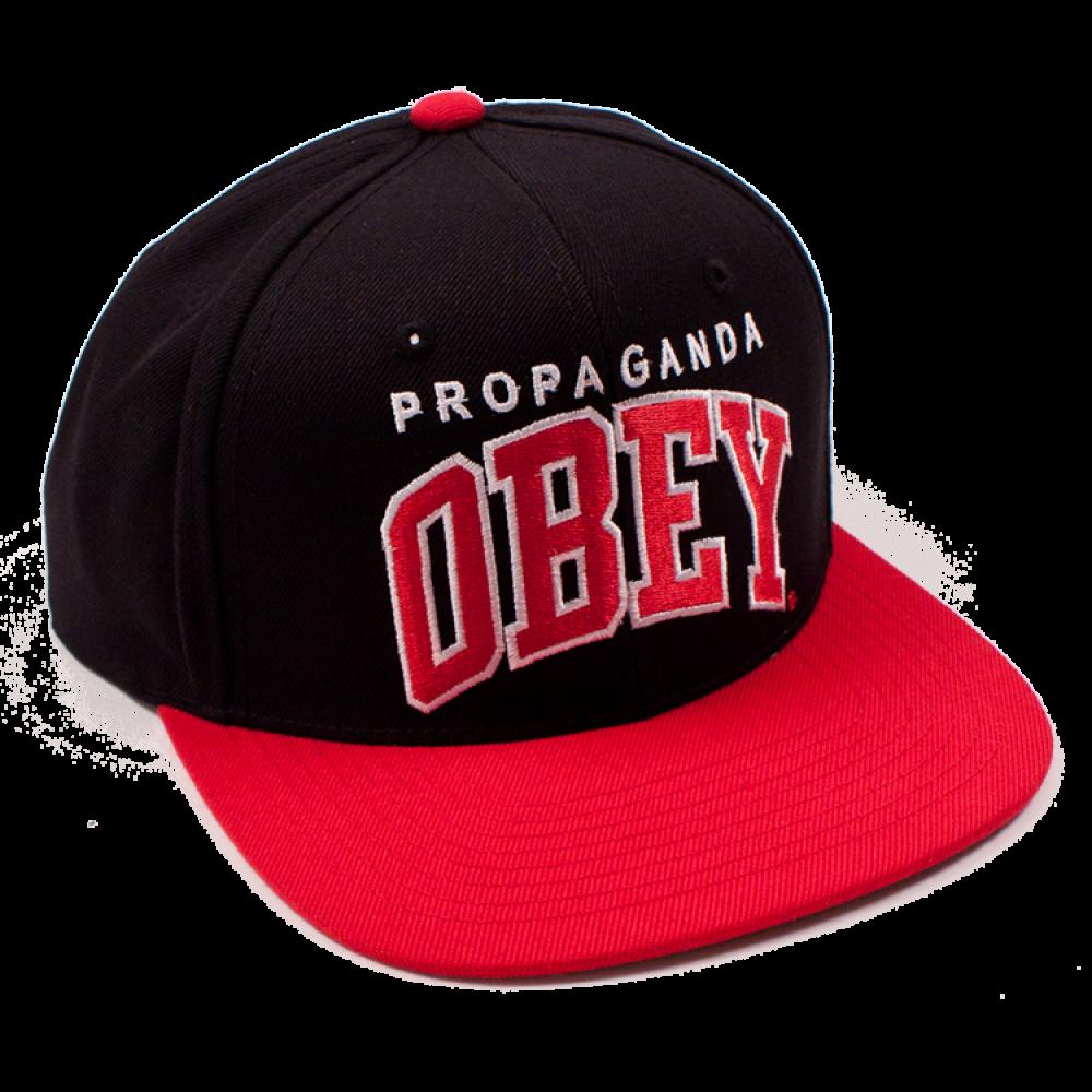 cf32b7e8f6a0b Obey Black Letter Cap Snapback Hat PNG Image - PurePNG