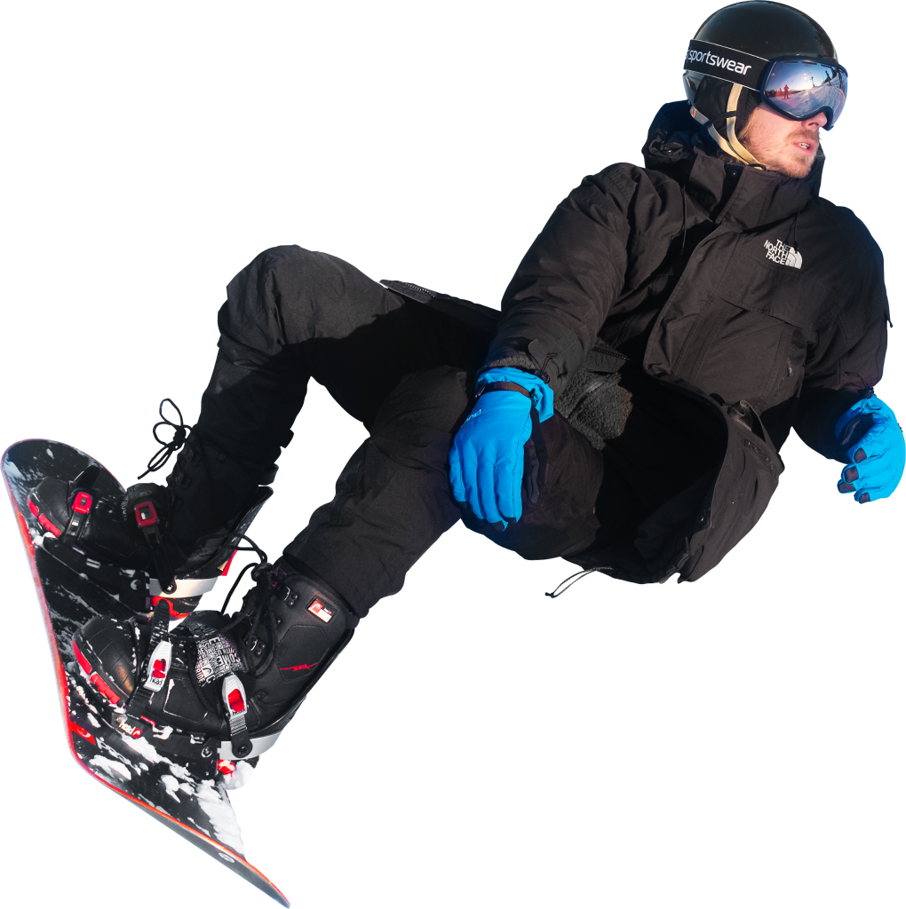 On Snowboard In Oslo Winter Park PNG Image