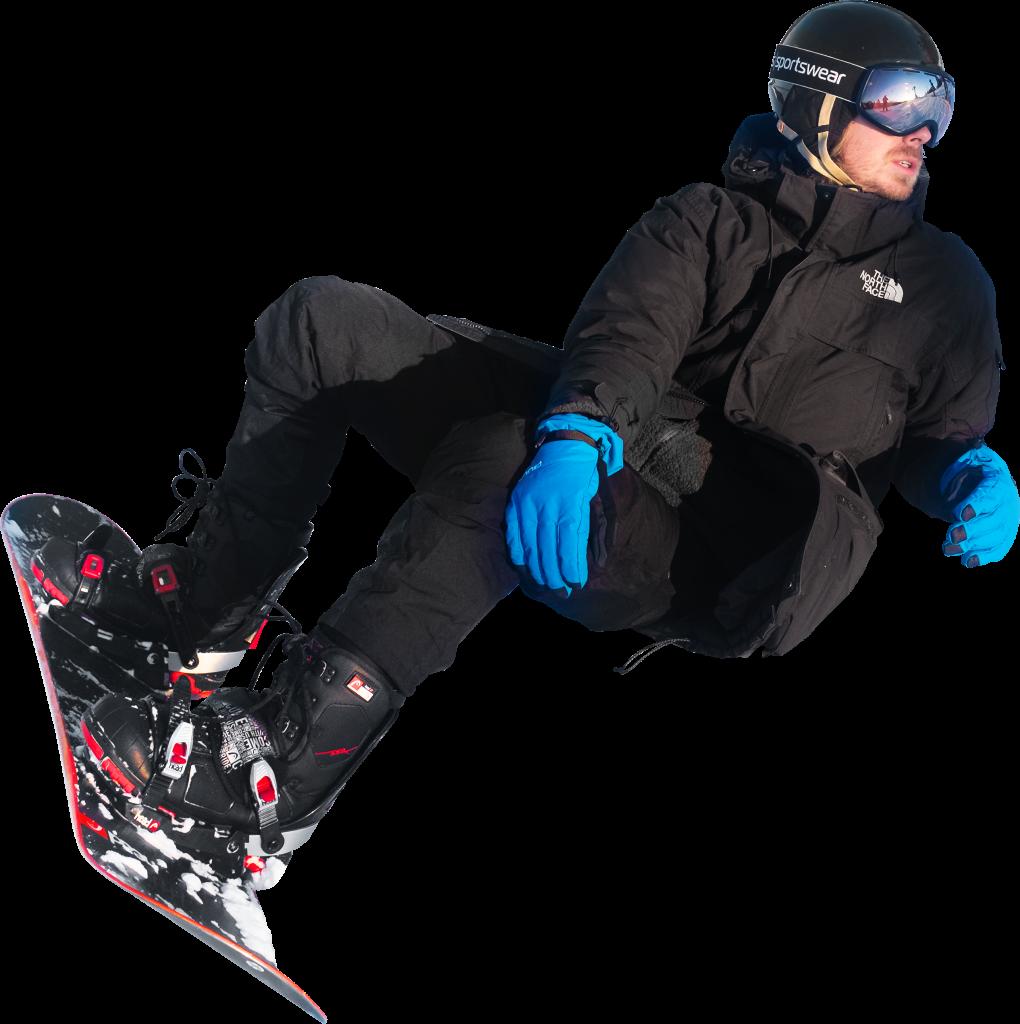 On Snowboard In Oslo Winter Park