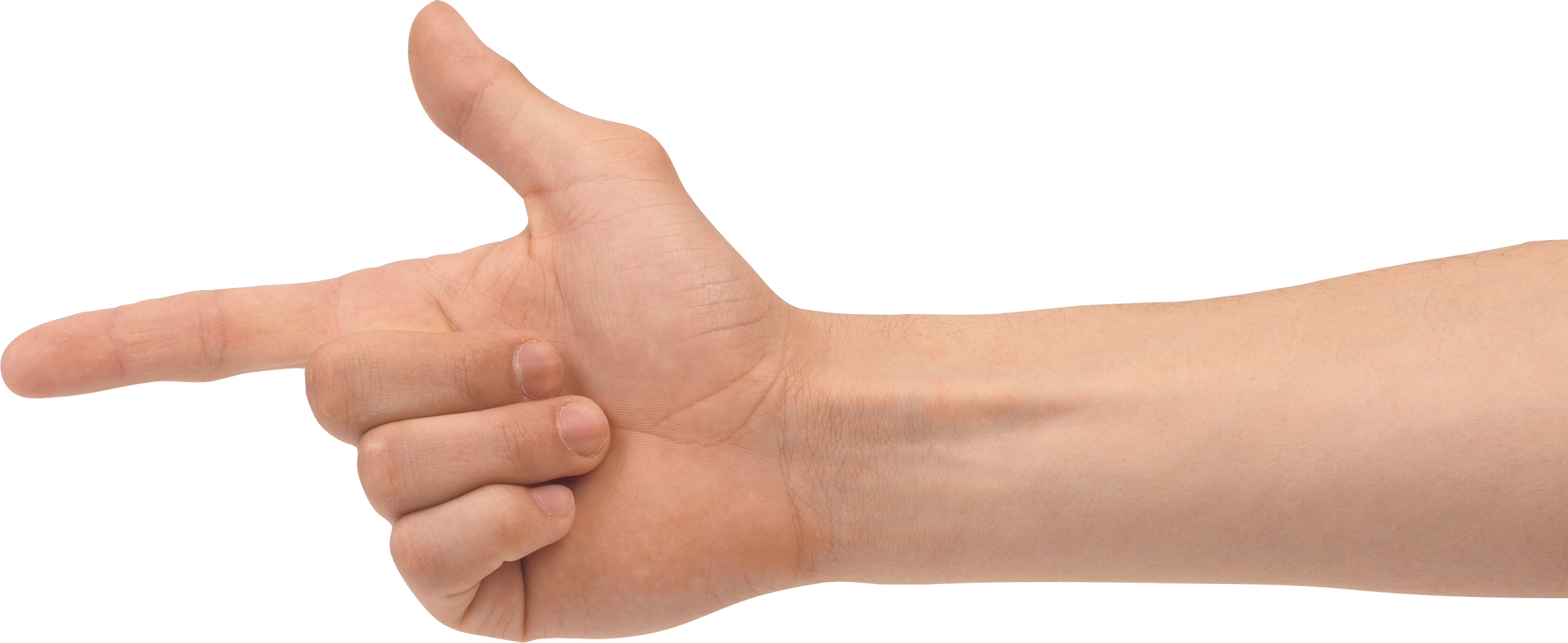 One Finger Hand PNG Image