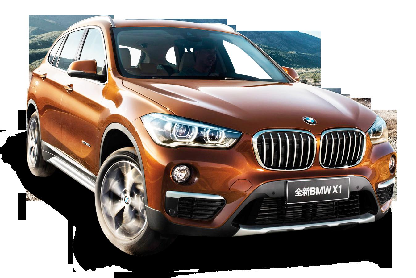 Orange BMW X1 Car