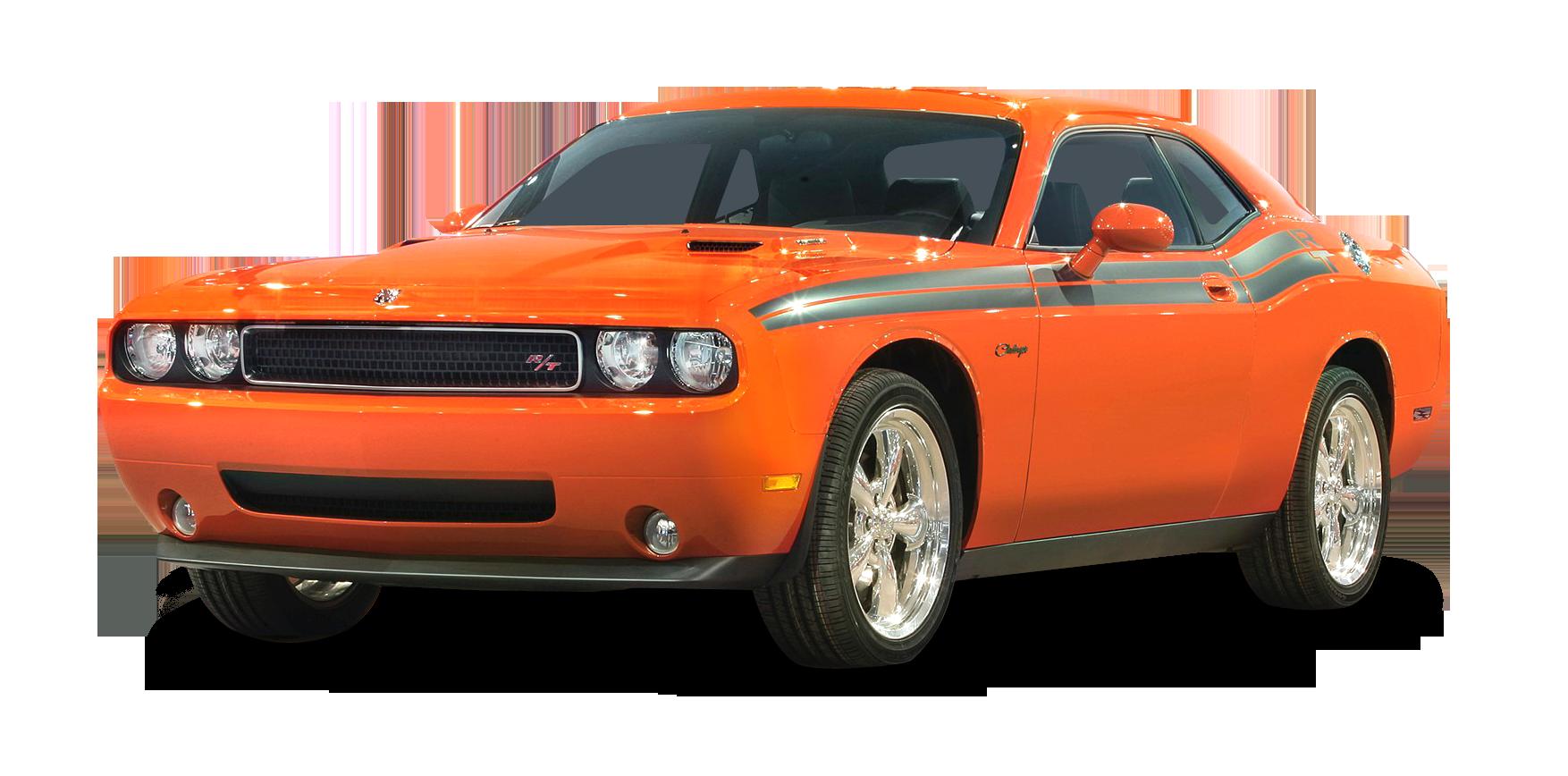 Orange Dodge Challenger RT Car PNG Image