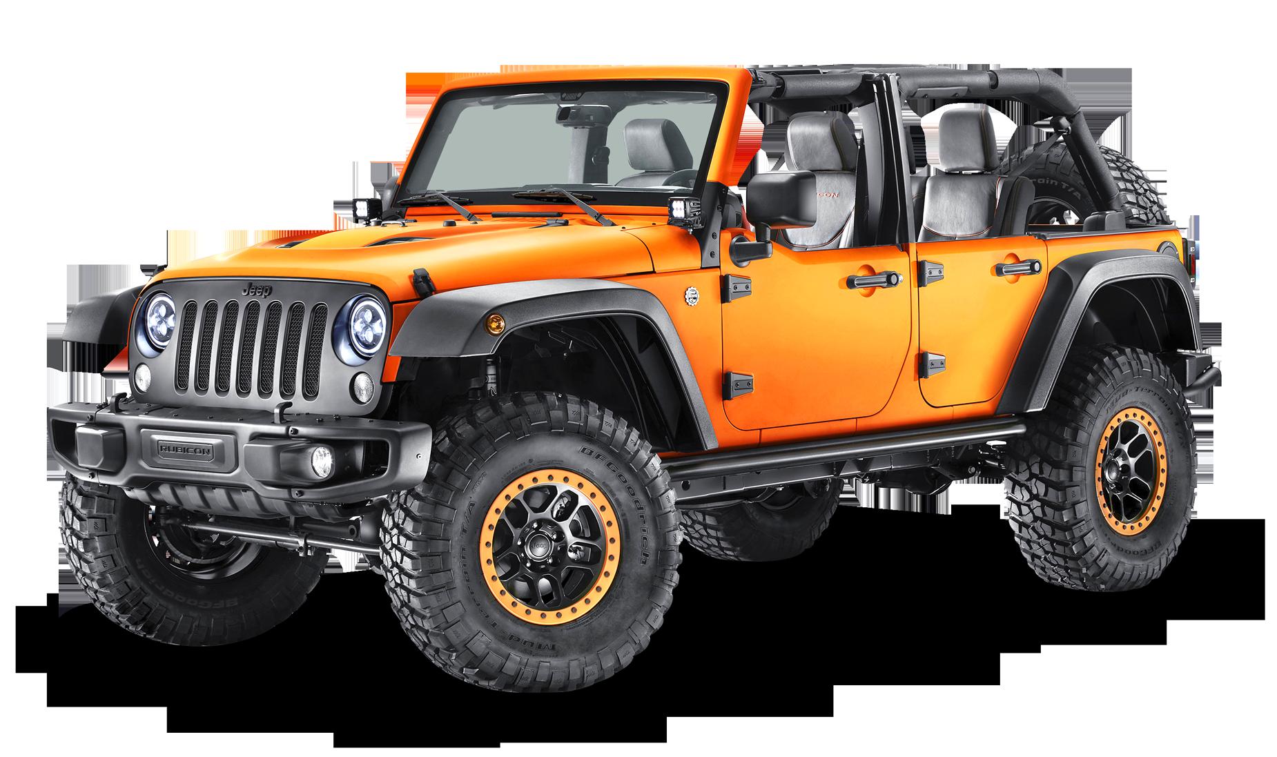 Orange Jeep Wrangler Car