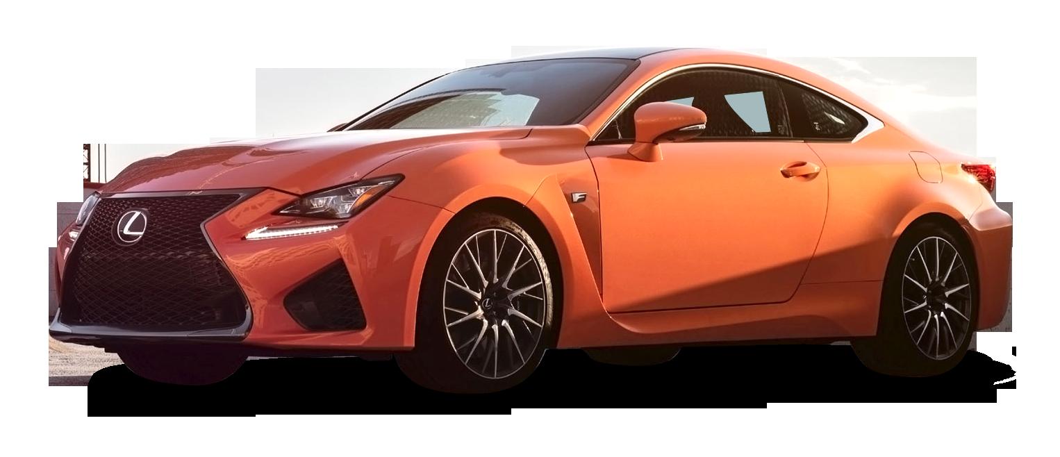 Orange Lexus RC F Car