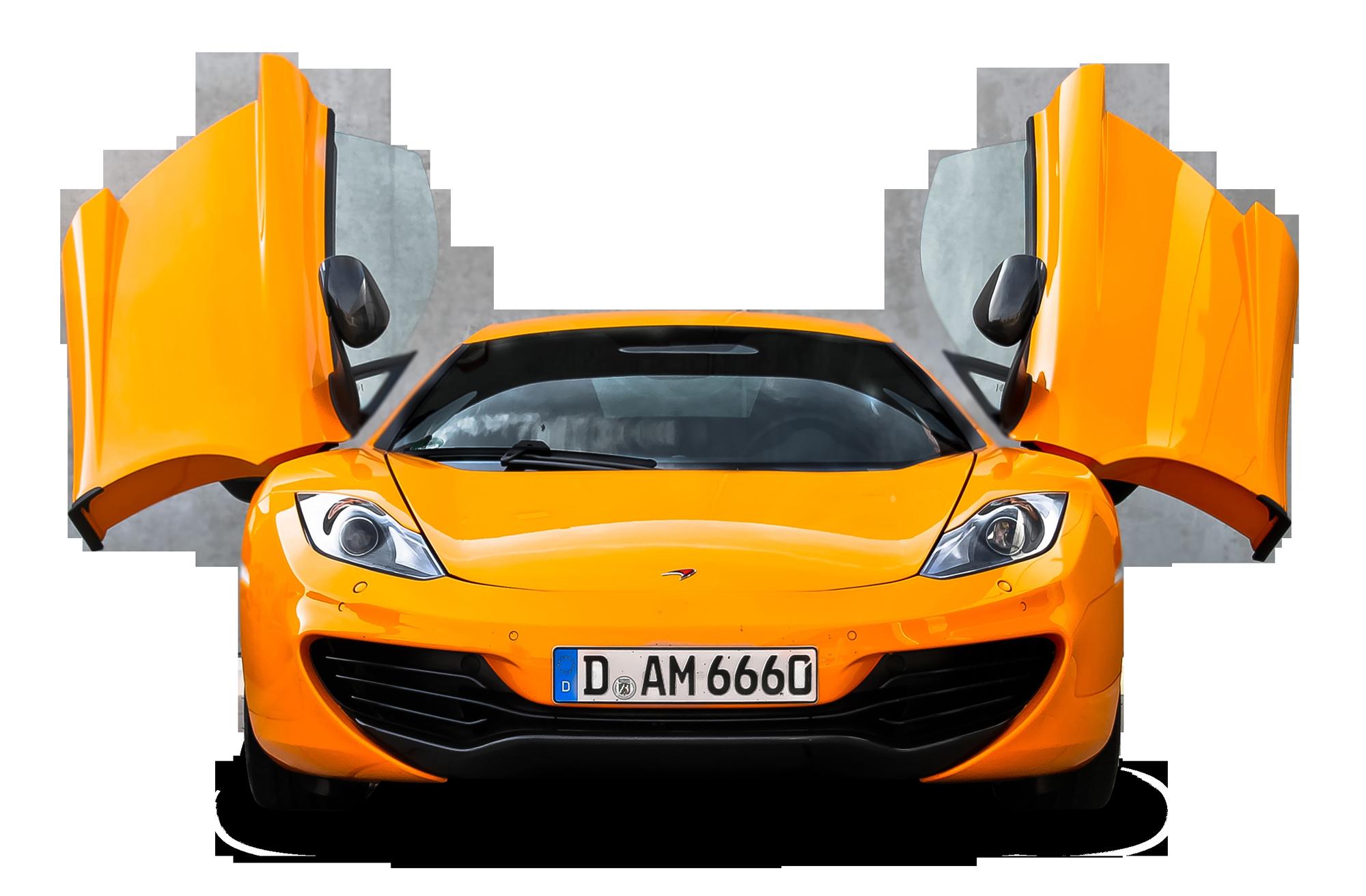 Orange McLaren 12C Front View Car