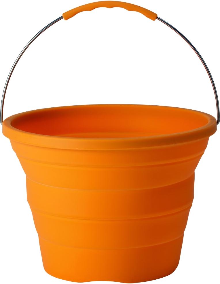 Orange PLastic Bucket PNG Image