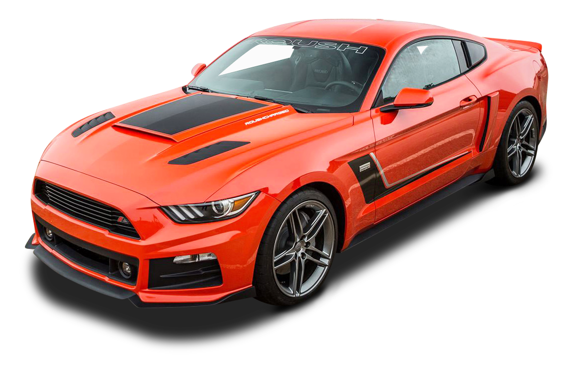 Orange Roush Stage 3 Mustang Car