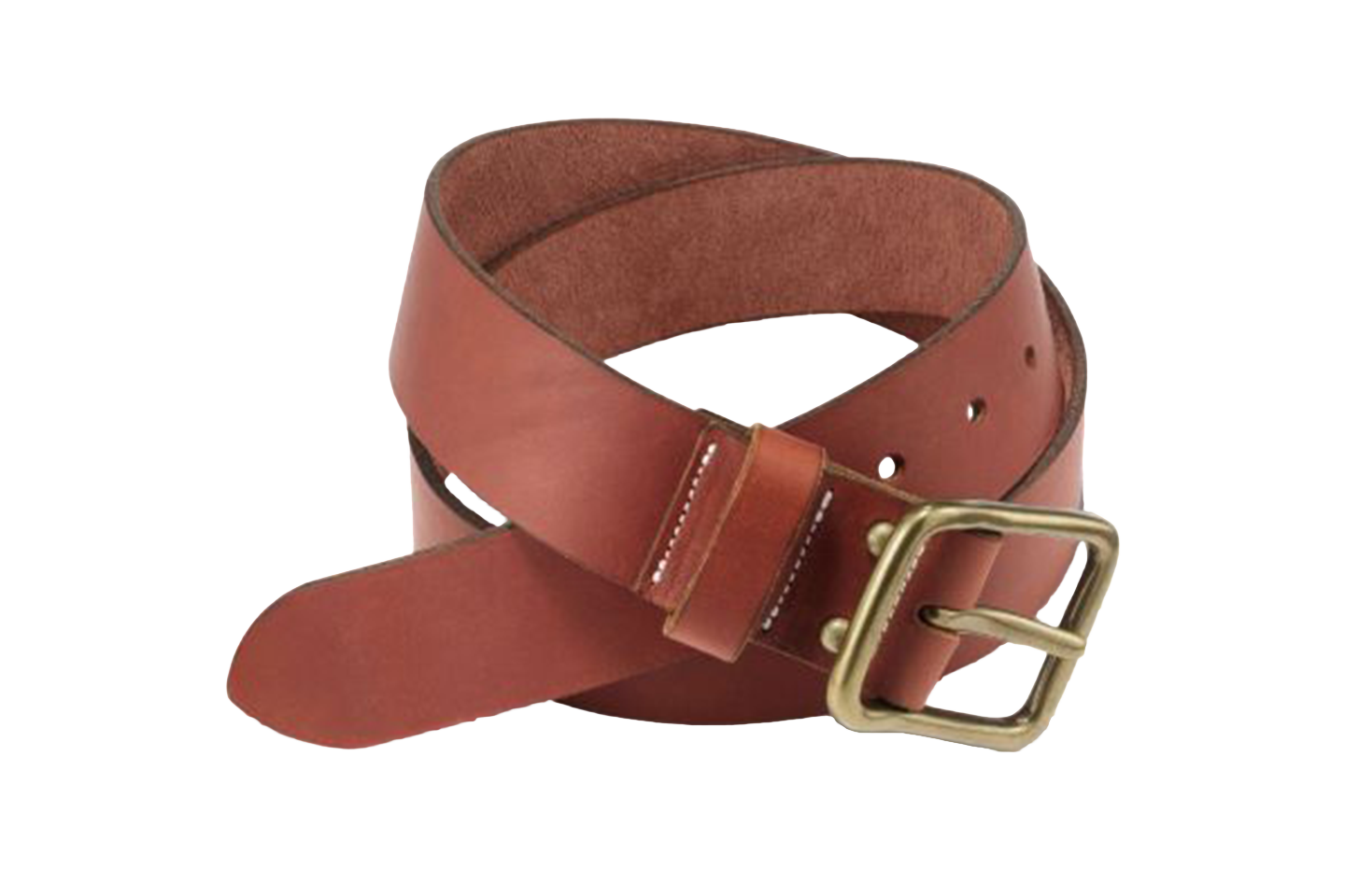 Oro Russet Pioneer Leather Belt PNG Image