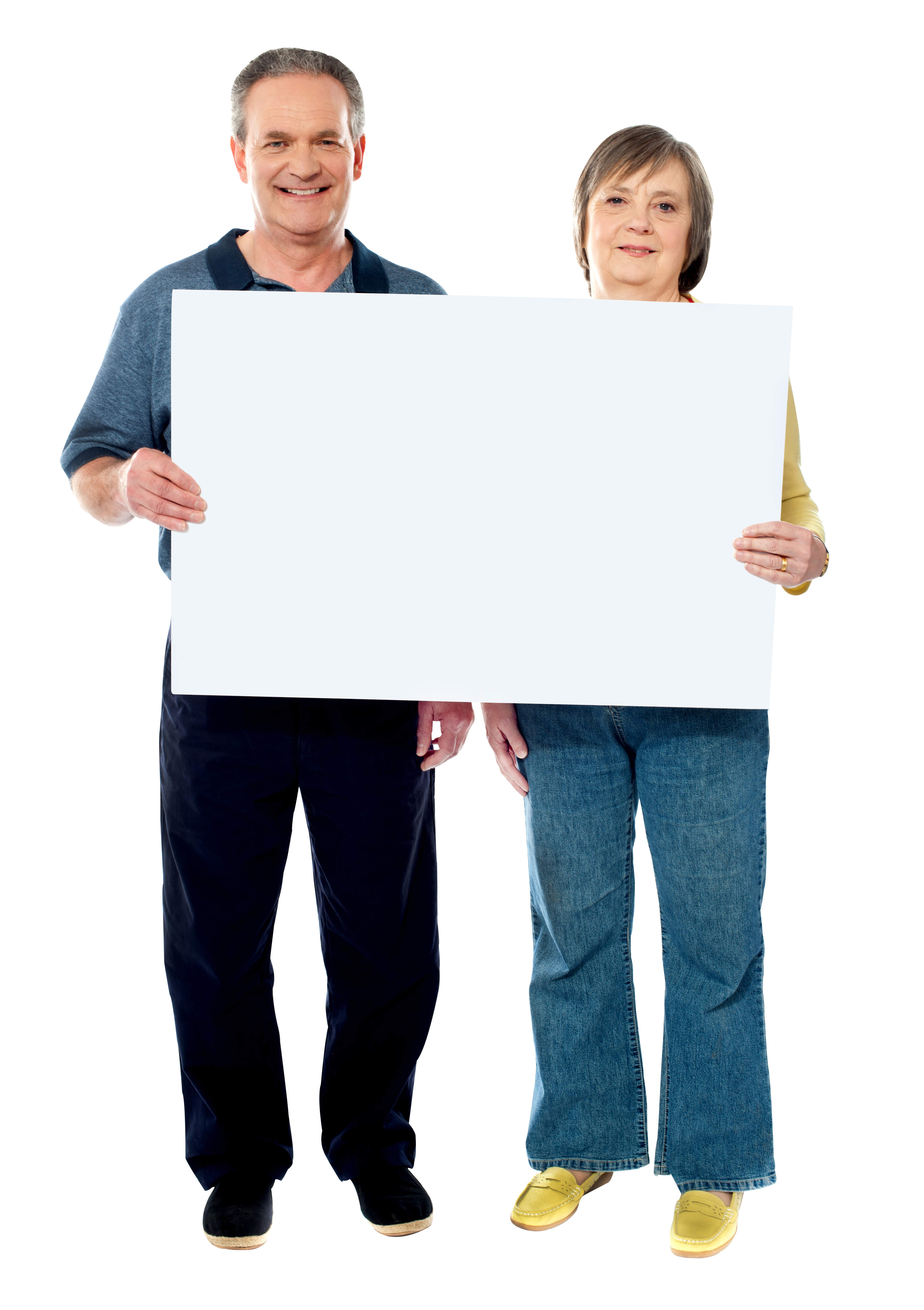 People Holding Banner PNG Image