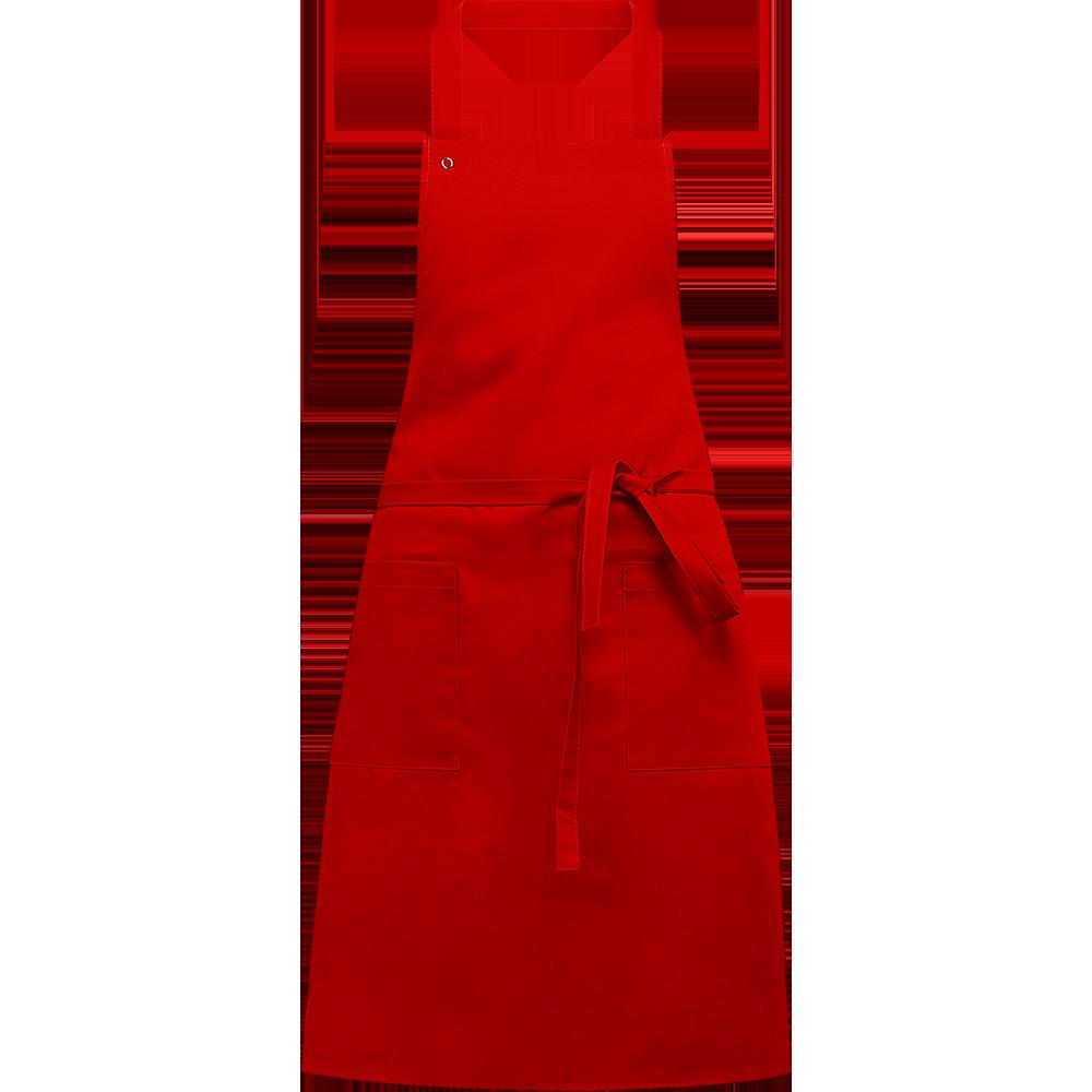 Plain Red Apron PNG Image