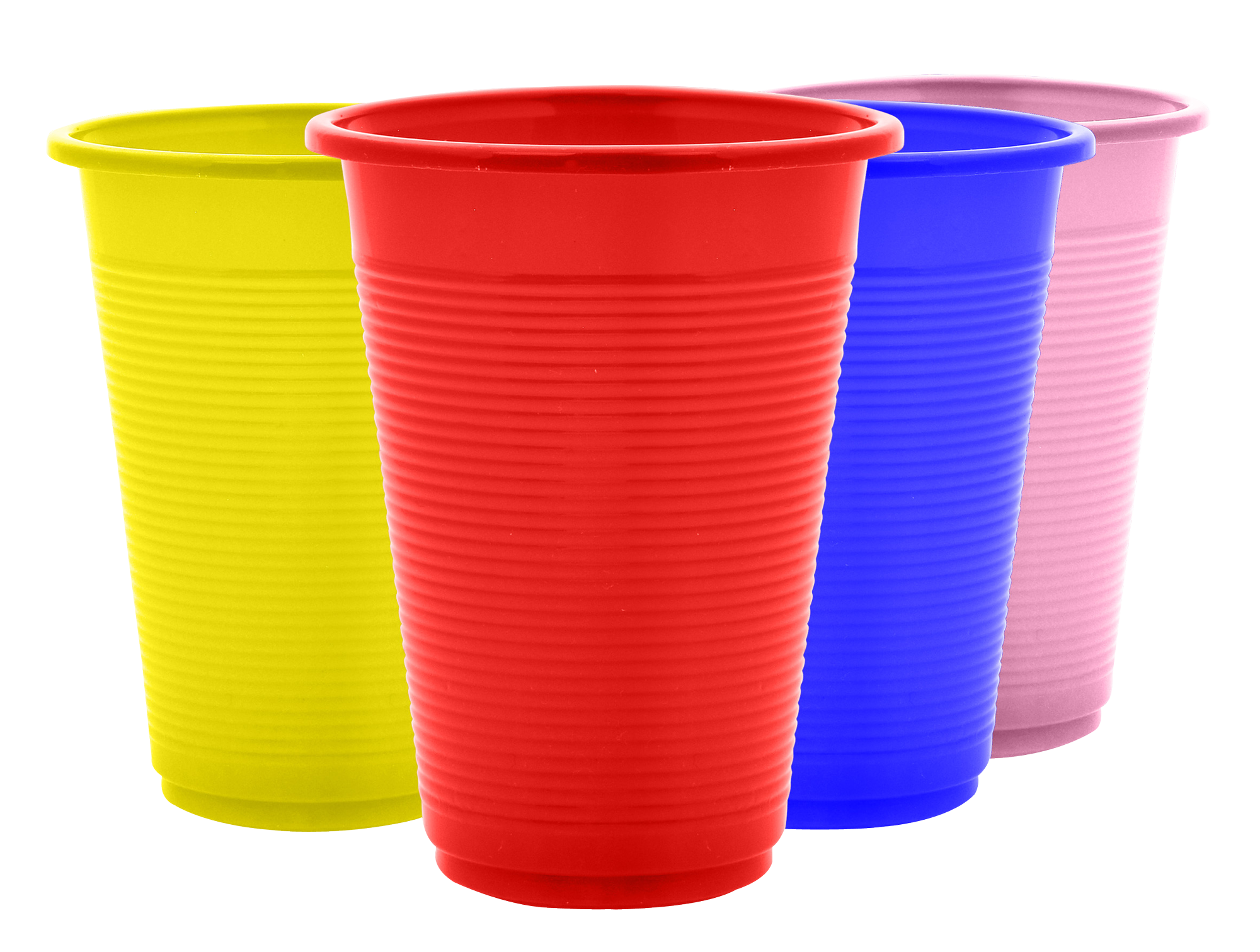 Plastic Cups PNG Image
