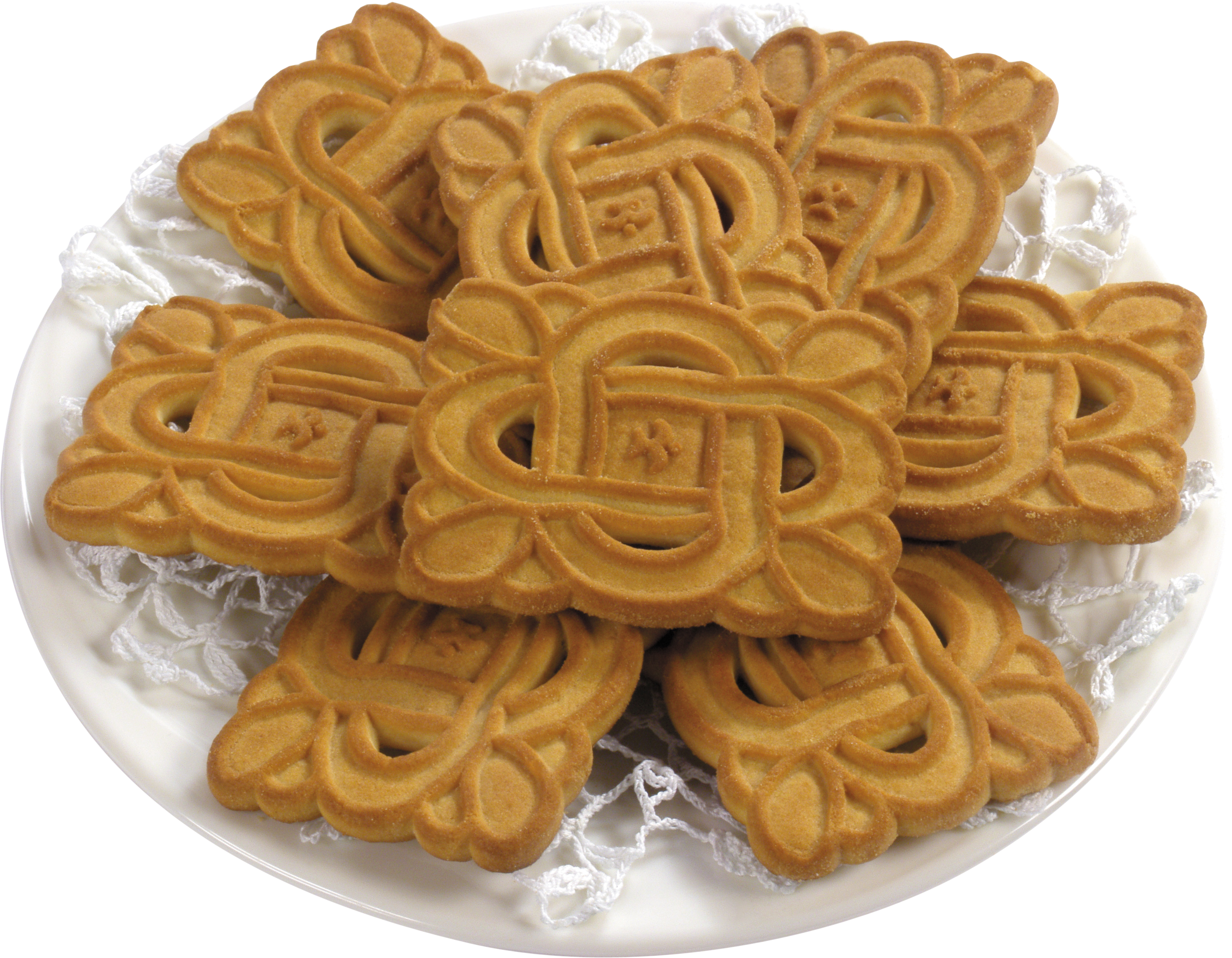 Plate of Speculoos PNG Image