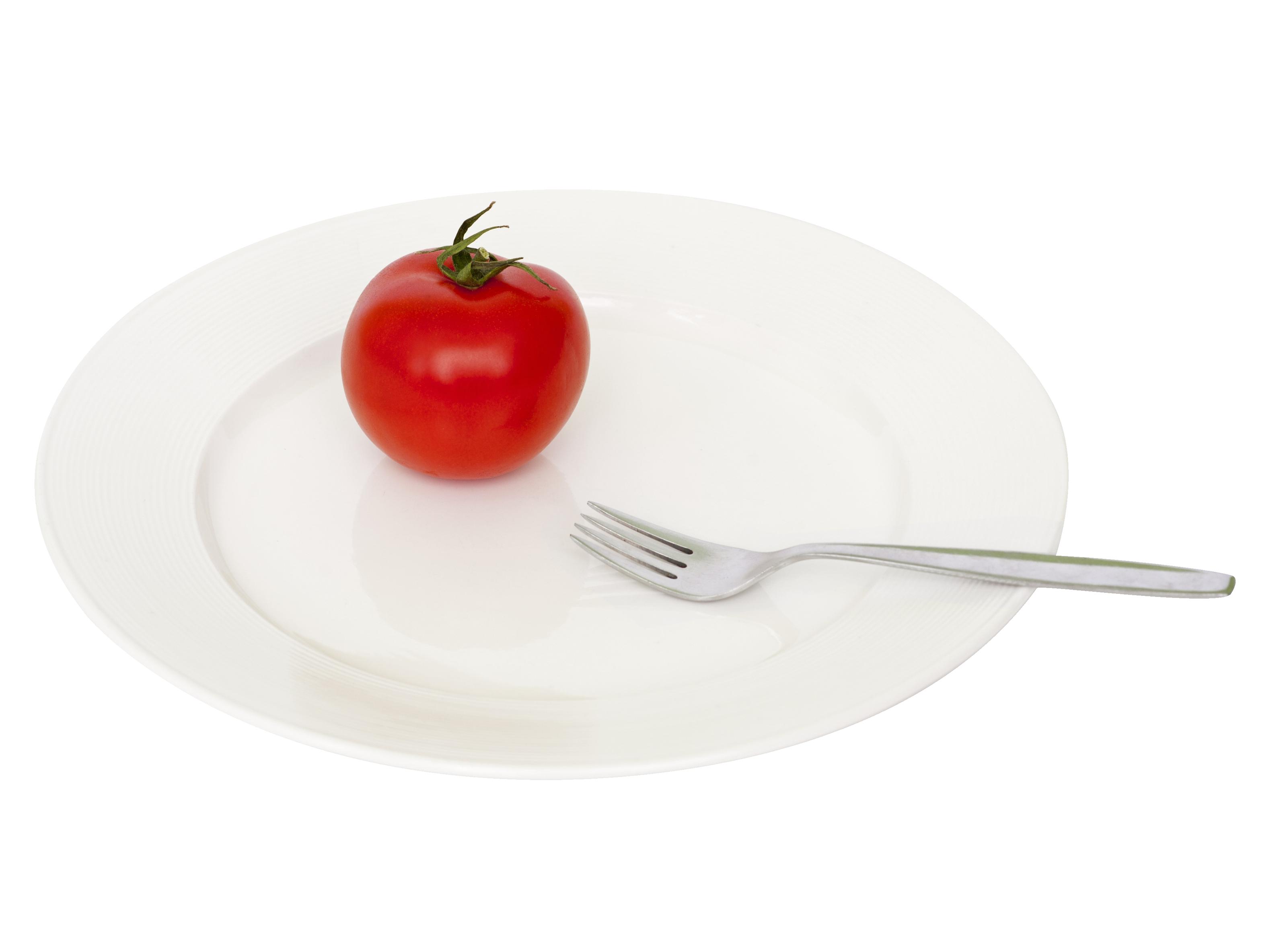 Plate Tomato Fork