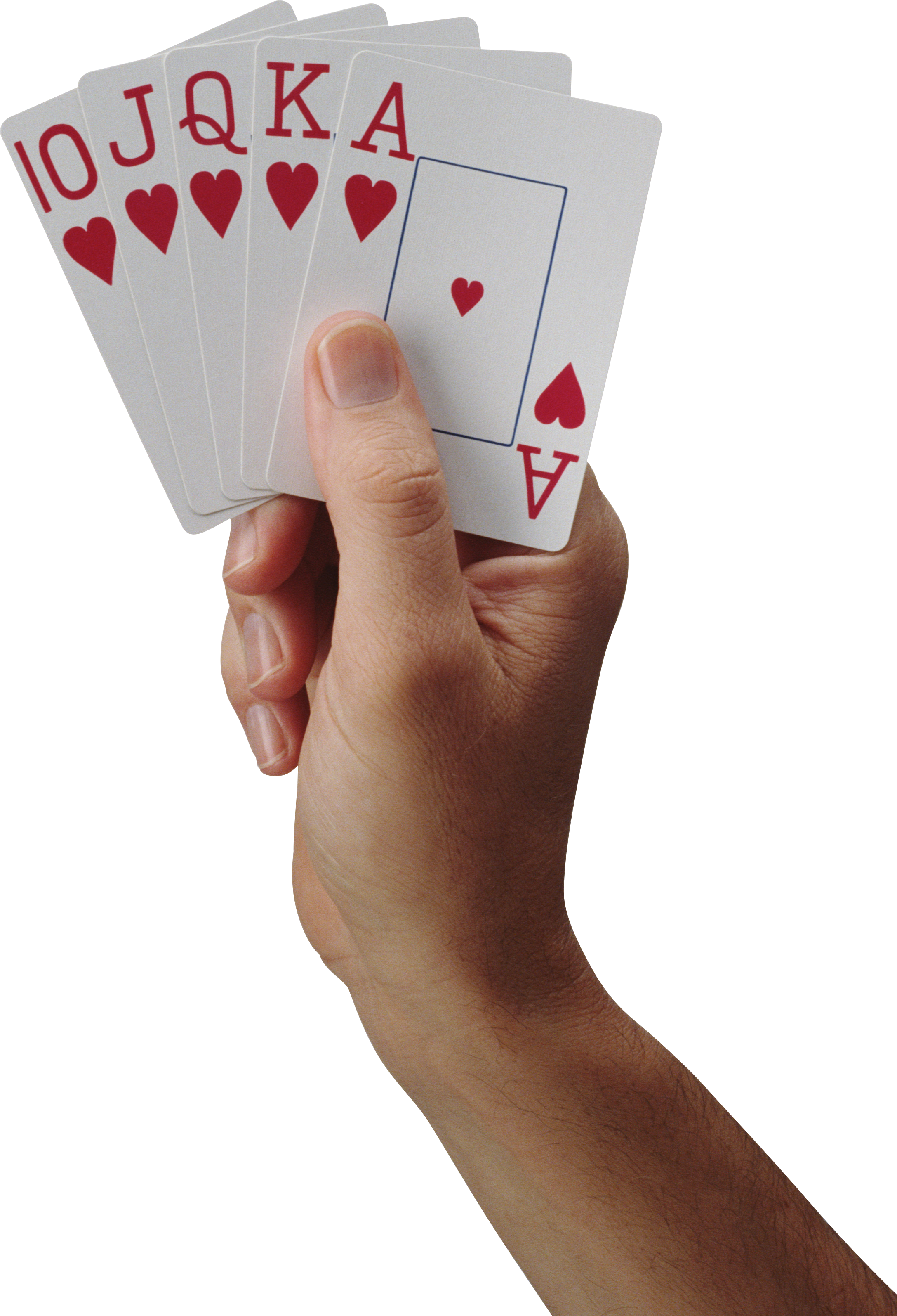 Playing Card On Hand PNG Image