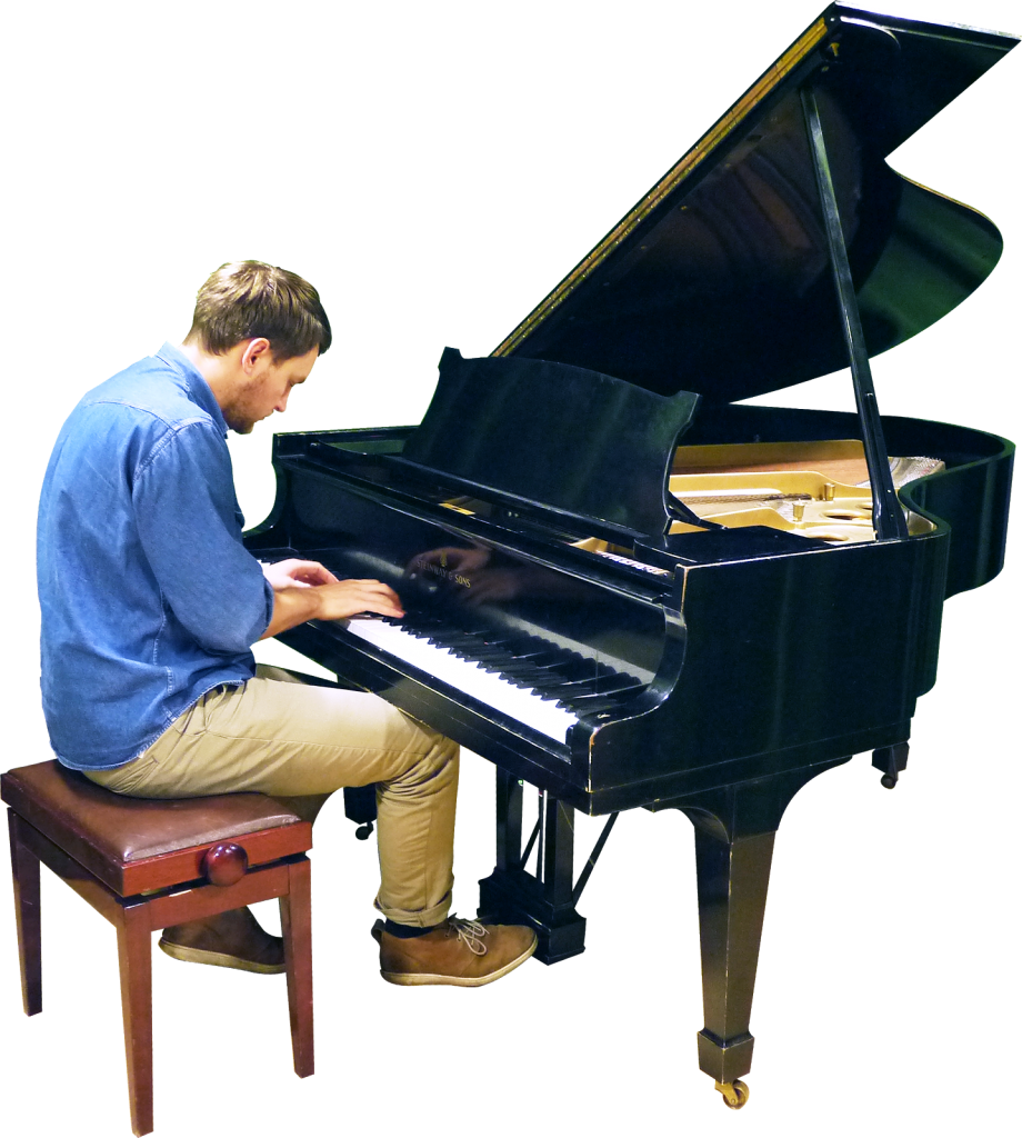 Playing Grand Piano
