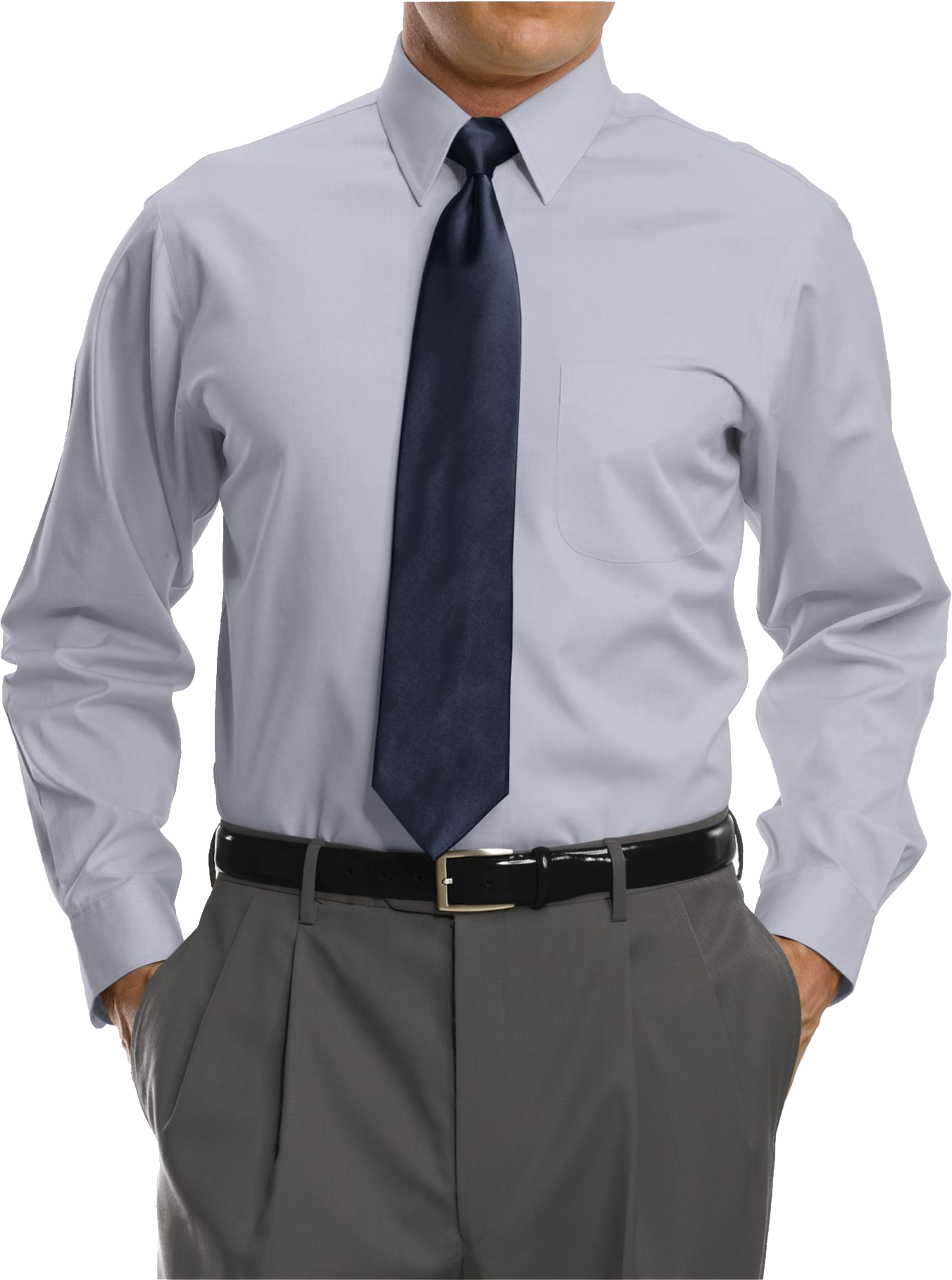 Point Collar Dress Shirt PNG Image