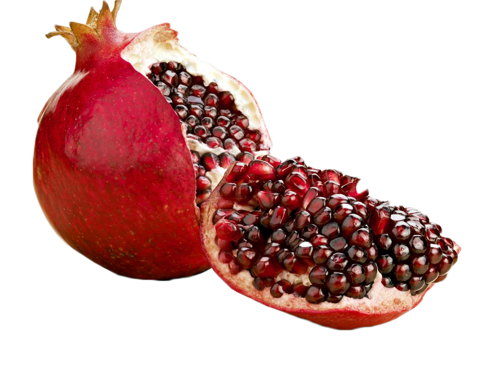 Pomegranate Halved
