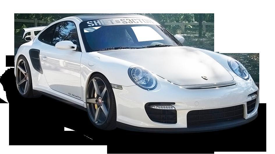 Porsche 997 GT2 White Car