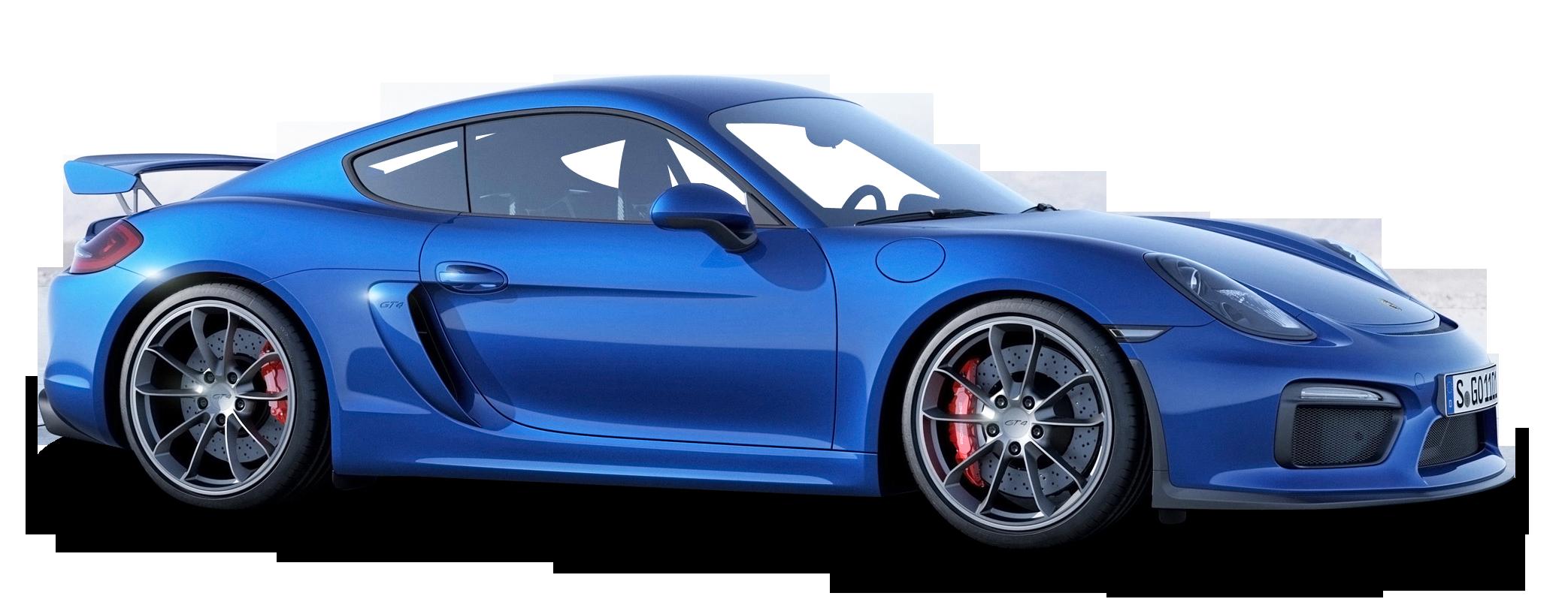 Porsche Cayman GT4 Blue Car PNG Image , PurePNG