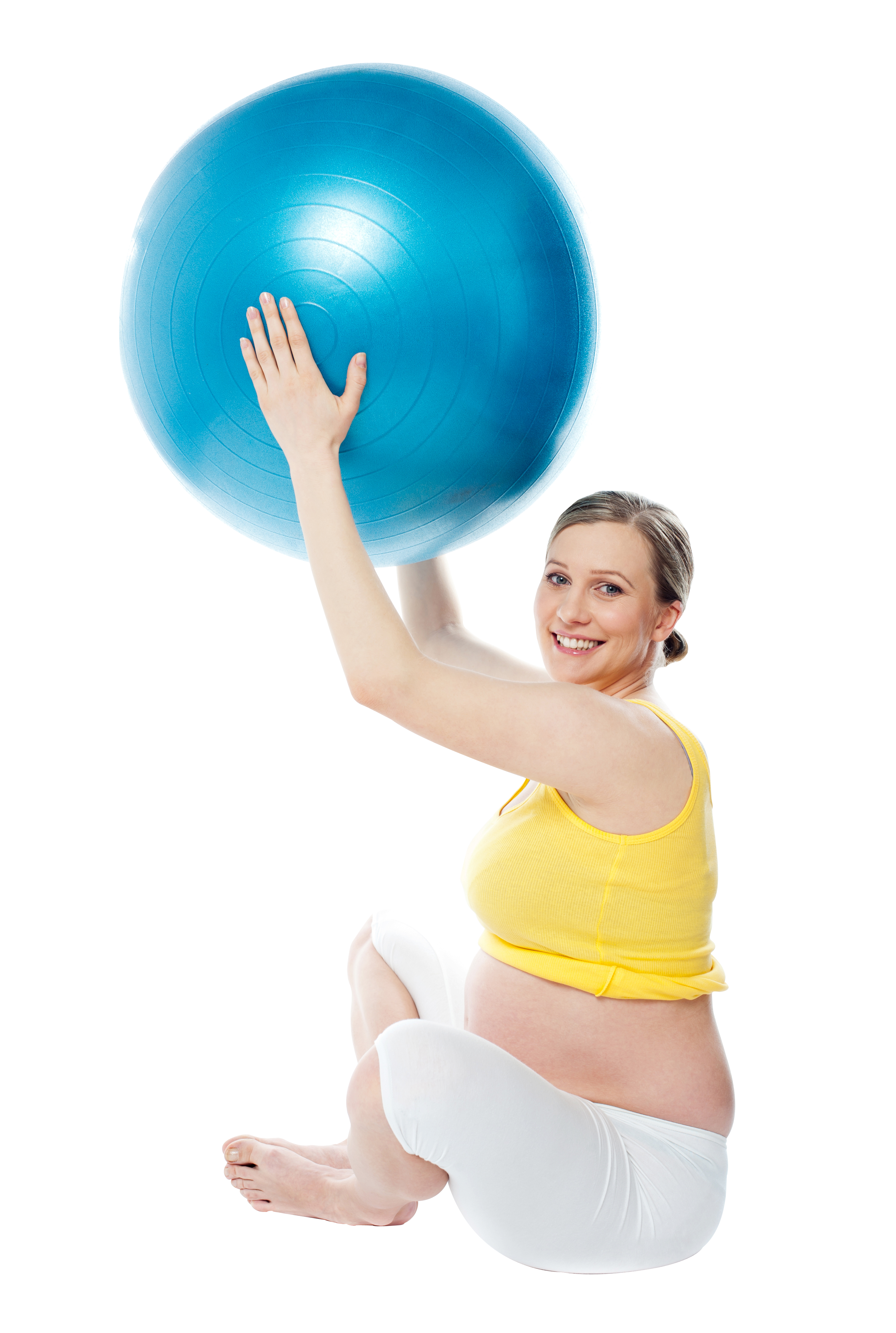 Pregnant Woman Exercise PNG Image