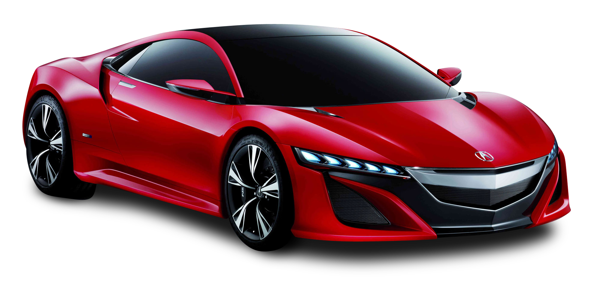 Red Acura NSX Front View Car