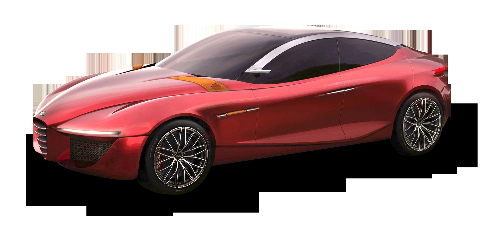 Red Alfa Romeo Gloria Car PNG Image