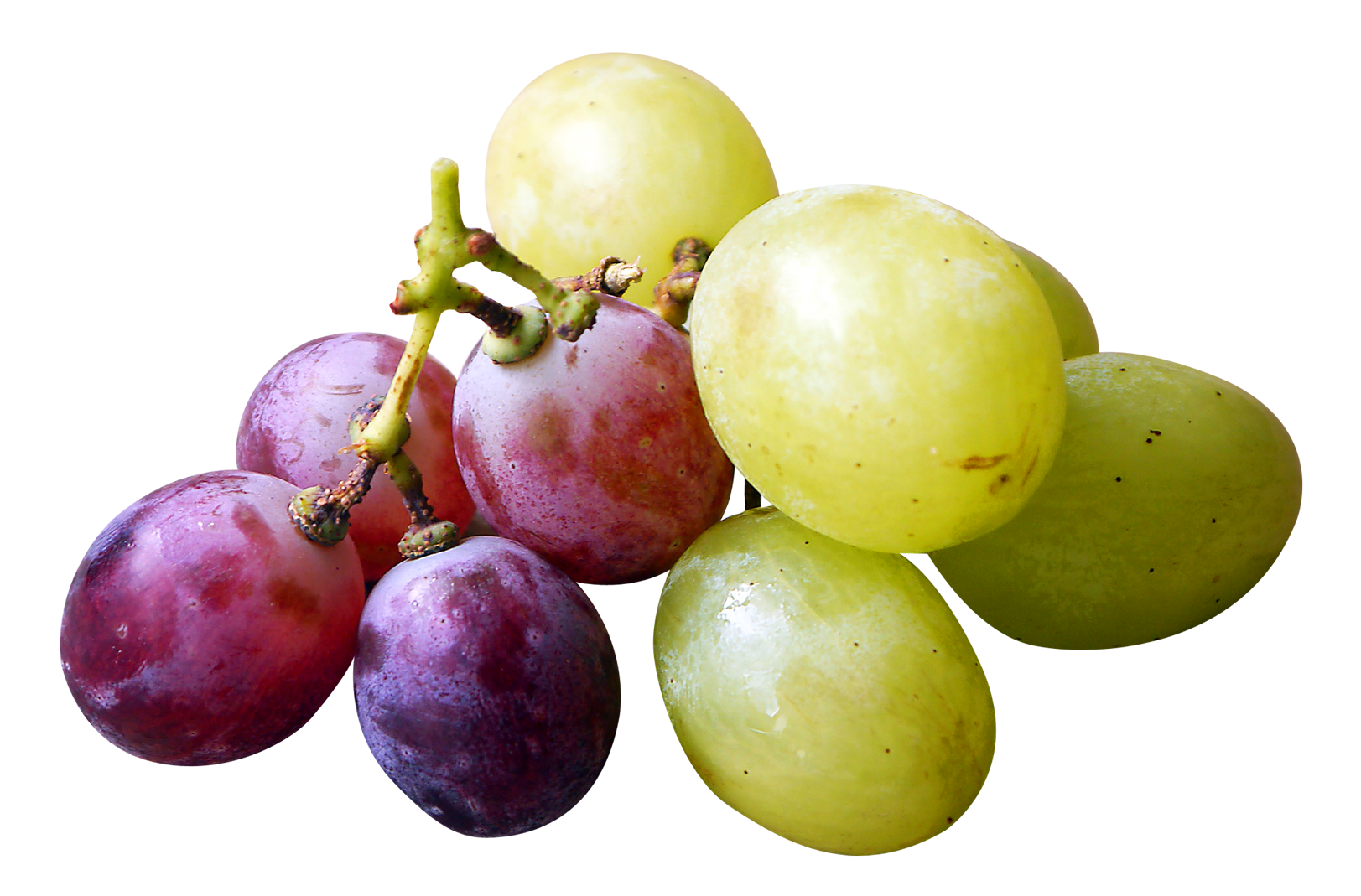 Red and Green Grapes PNG Image