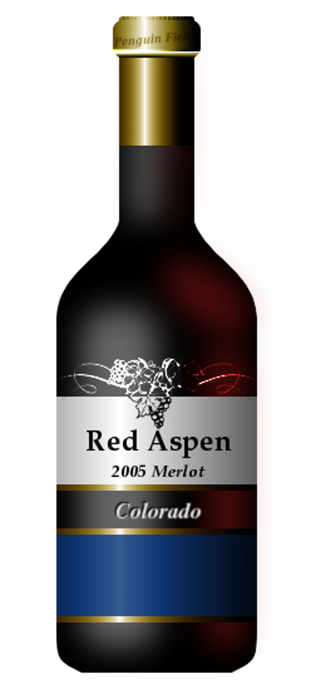 Red Aspen Bottle PNG Image