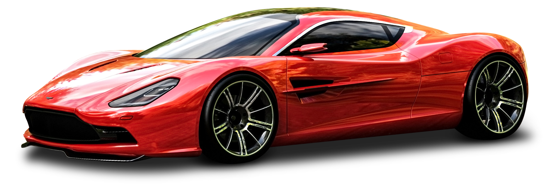 Red Aston Martin DBC Car PNG Image