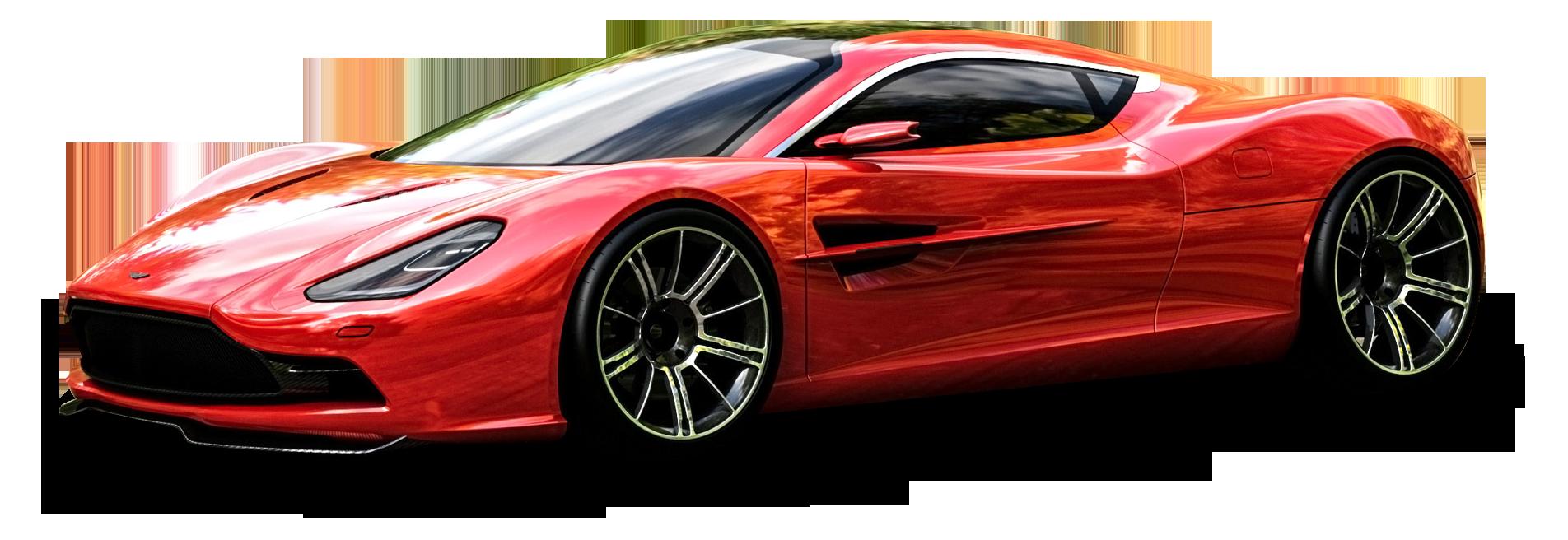 Red Aston Martin DBC Car