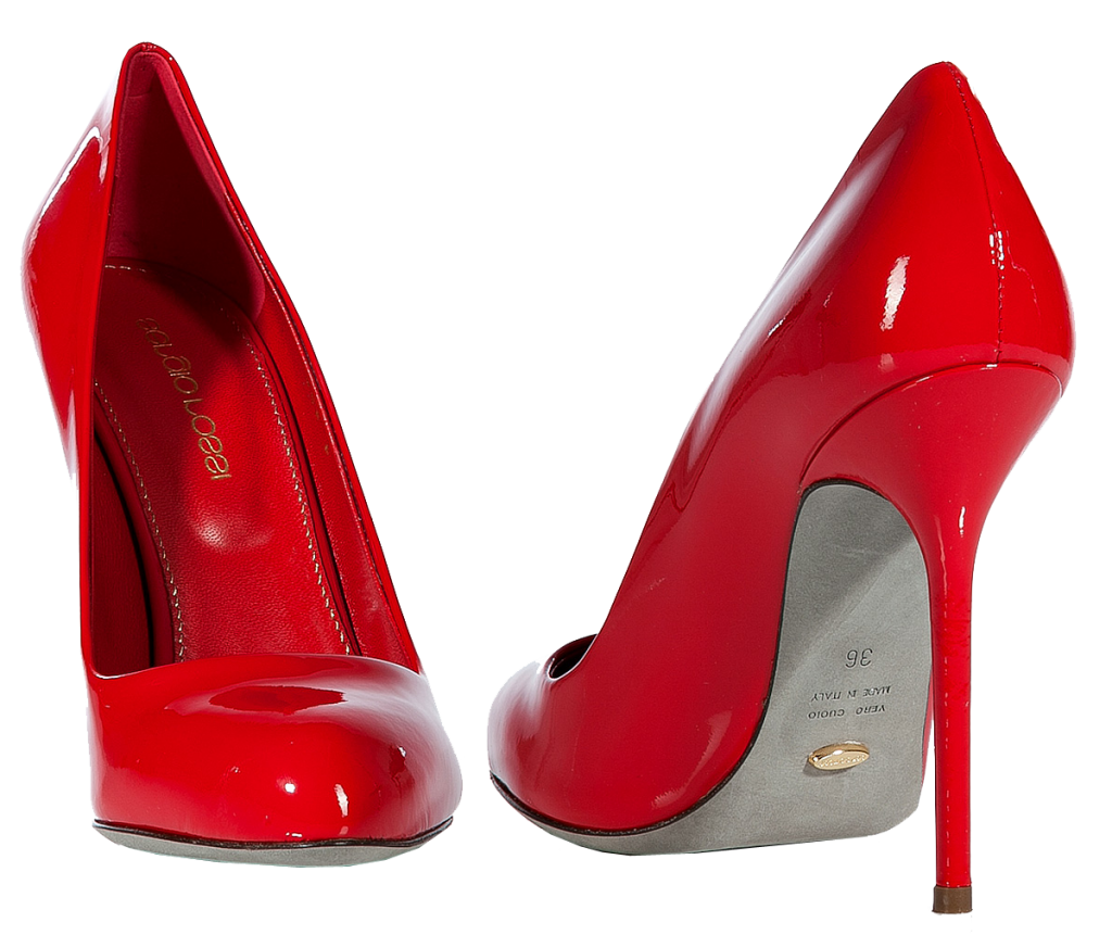 Red Casual Women Shoe PNG Image