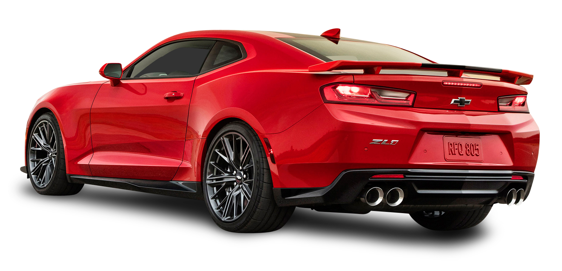 Red Chevrolet Camaro ZL1 Back Side Car