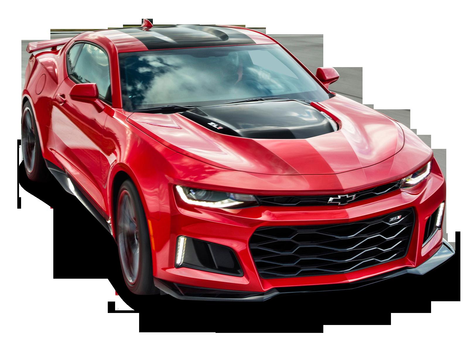 Red Chevrolet Camaro ZL1 Front Side Car