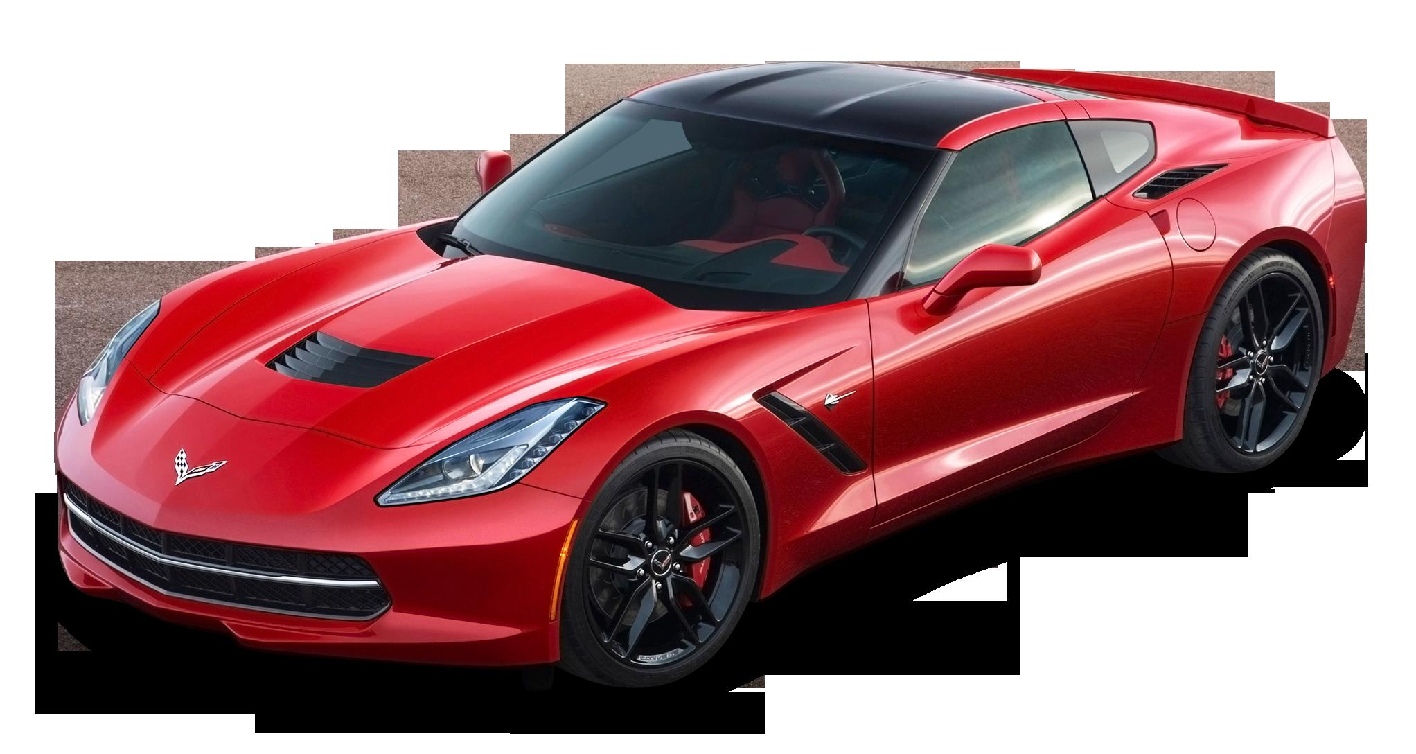 Red Chevrolet Corvette Stingray Top View Car
