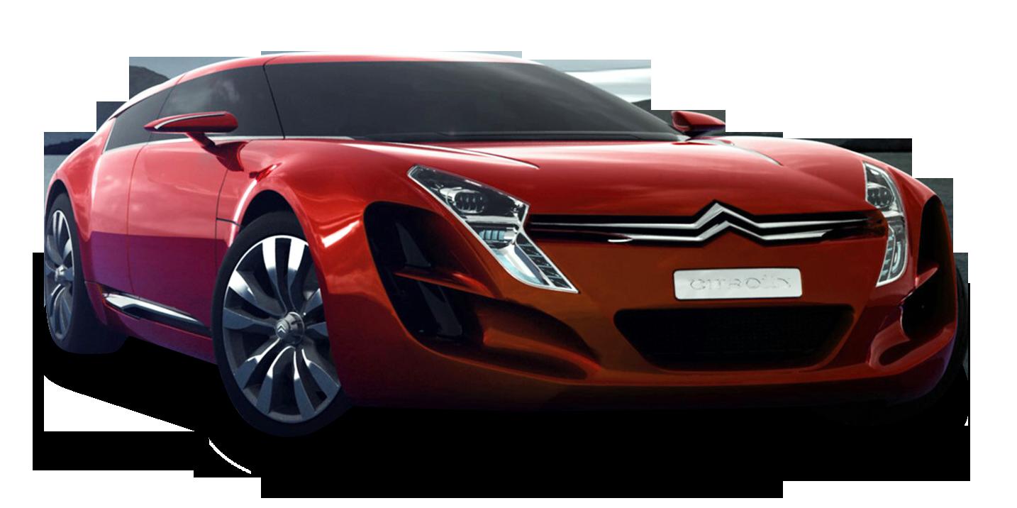 Red Citroen C Metisse Car PNG Image