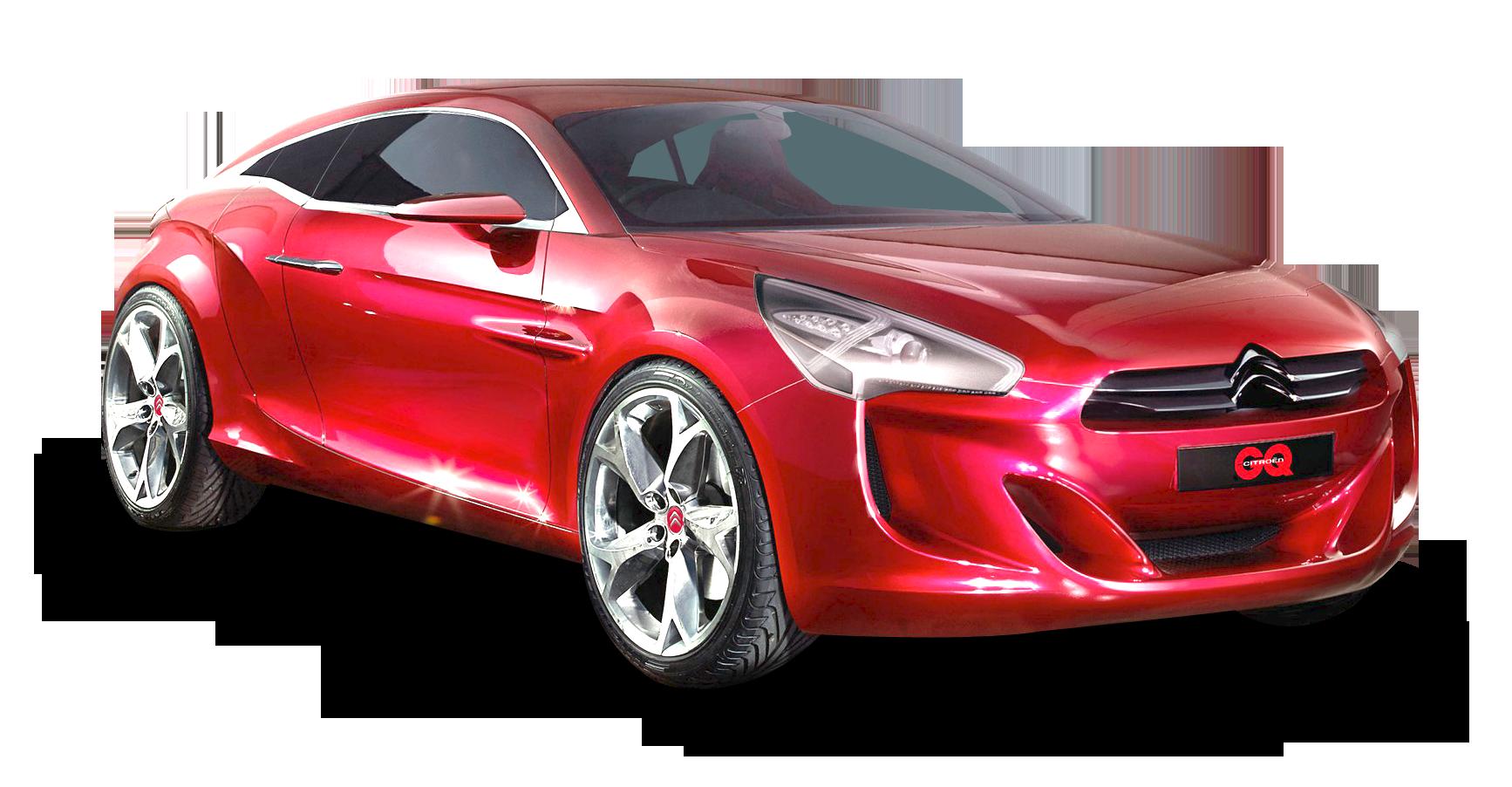 Red Citroen Car