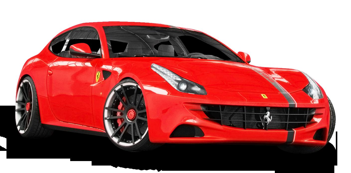 Red Ferrari Car PNG Image