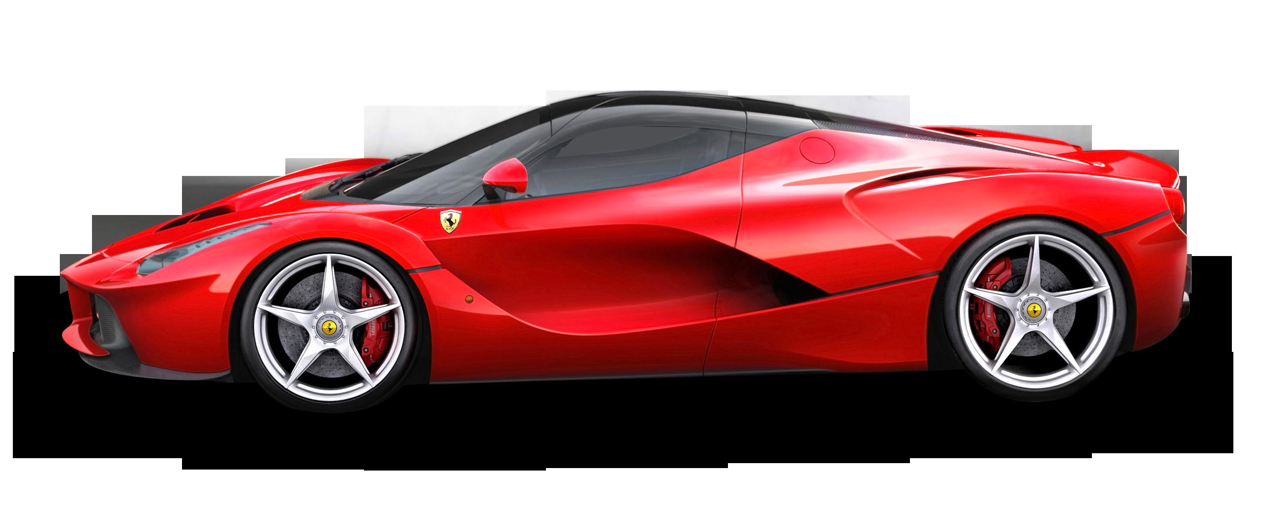 Red Ferrari LaFerrari Car PNG Image