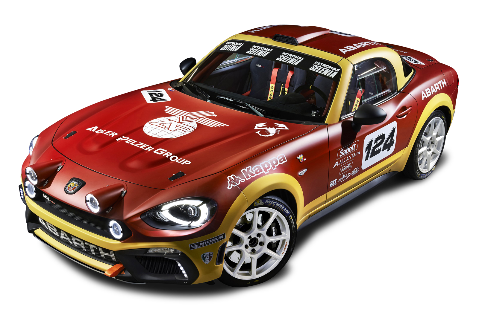 Red Fiat 124 Spider Abarth Rally Car Png Image Purepng Free