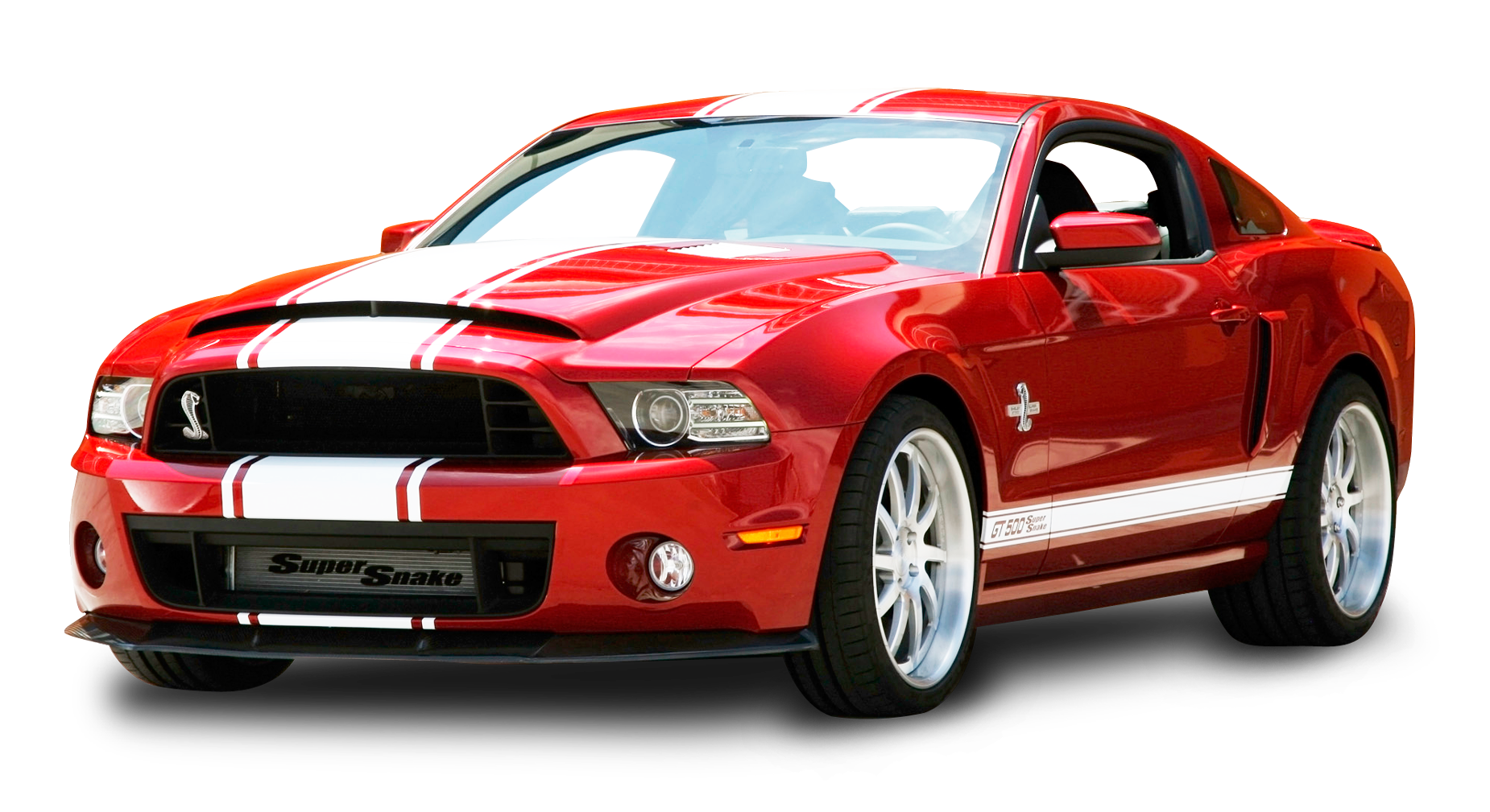 Red Ford Mustang Shelby GT500 Snake Car