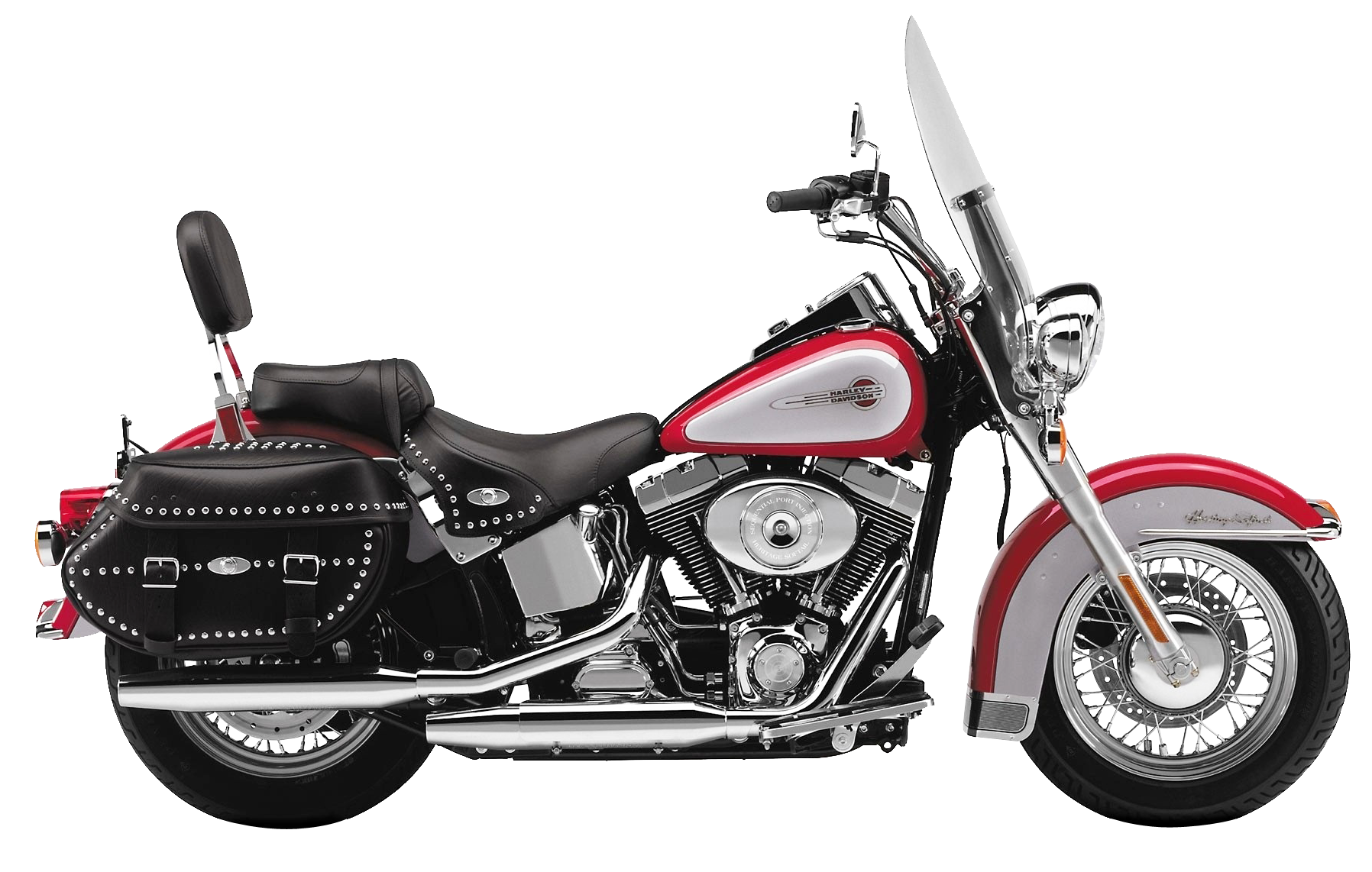Red Harley Davidson PNG Image